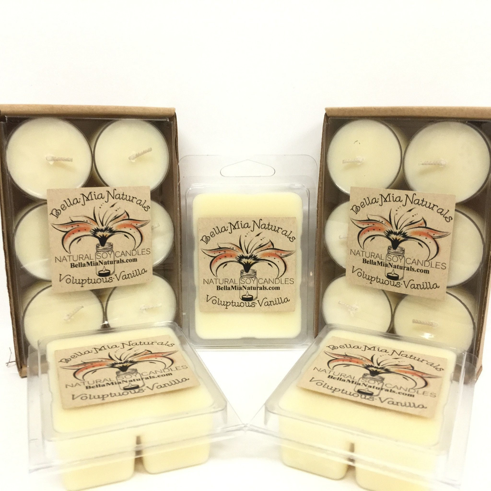 Voluptuous Vanilla Natural Hand Poured Soy Candles -  - Bella-Mia Naturals All Natural Soy Candles & Lip Balms - 1