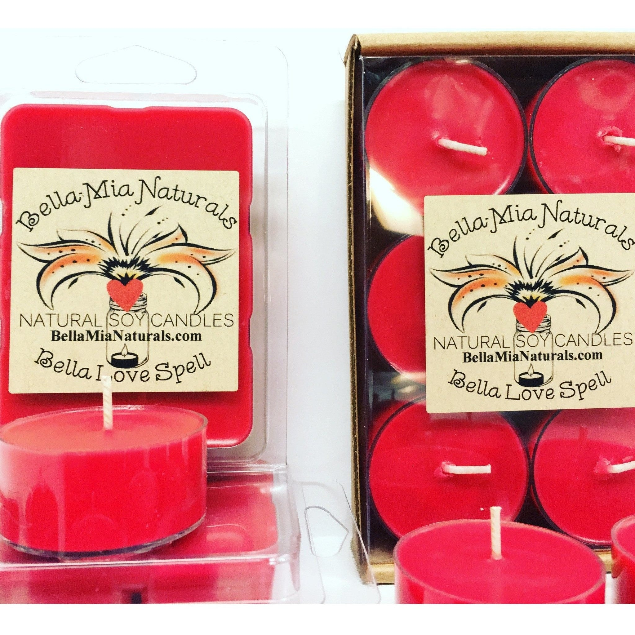 Bella Love Spell Natural Hand Poured Soy Candles & Melts -  - Bella-Mia Naturals All Natural Soy Candles & Lip Balms - 8