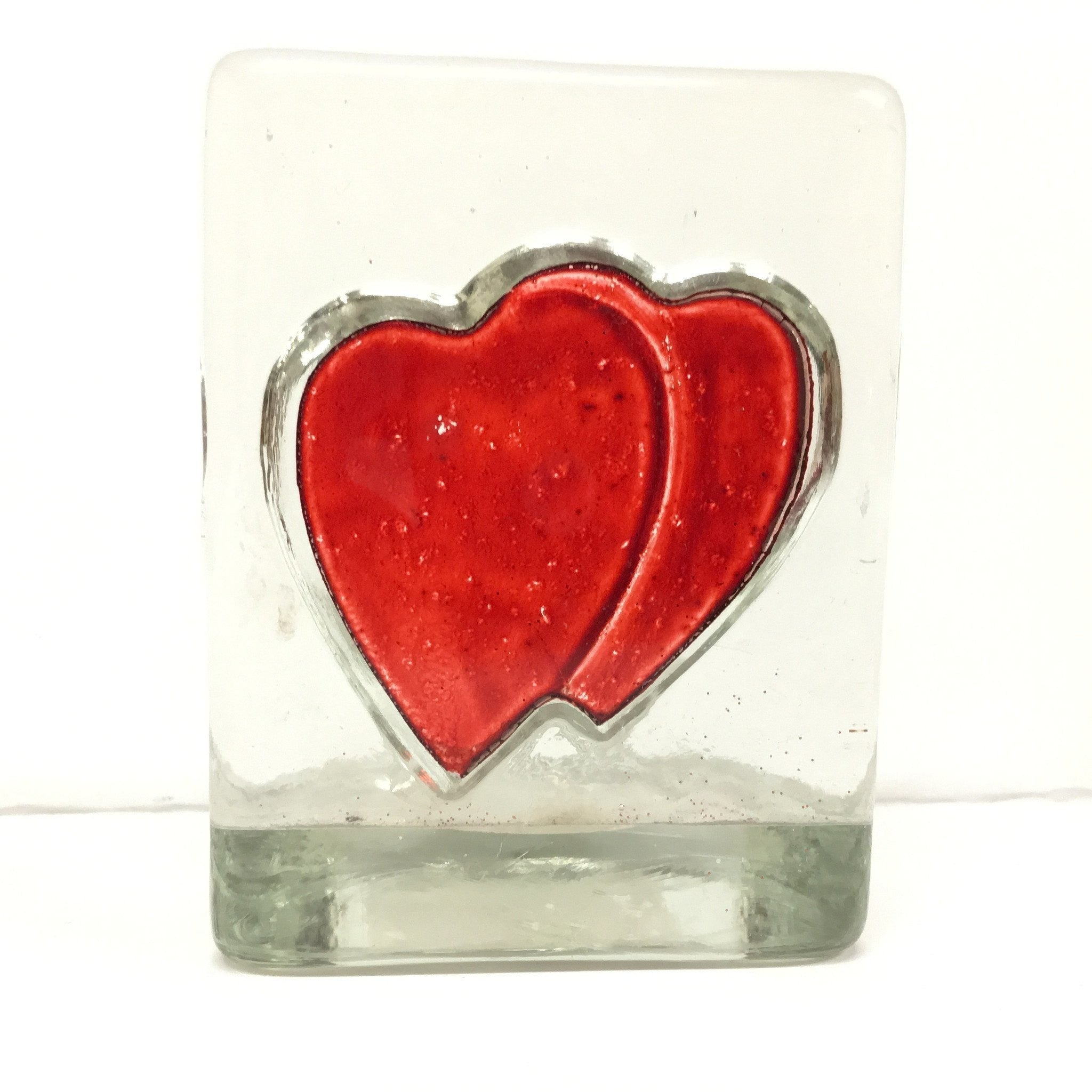 Heart Glass Tealights Holder -  - Bella-Mia Naturals All Natural Soy Candles & Lip Balms - 1