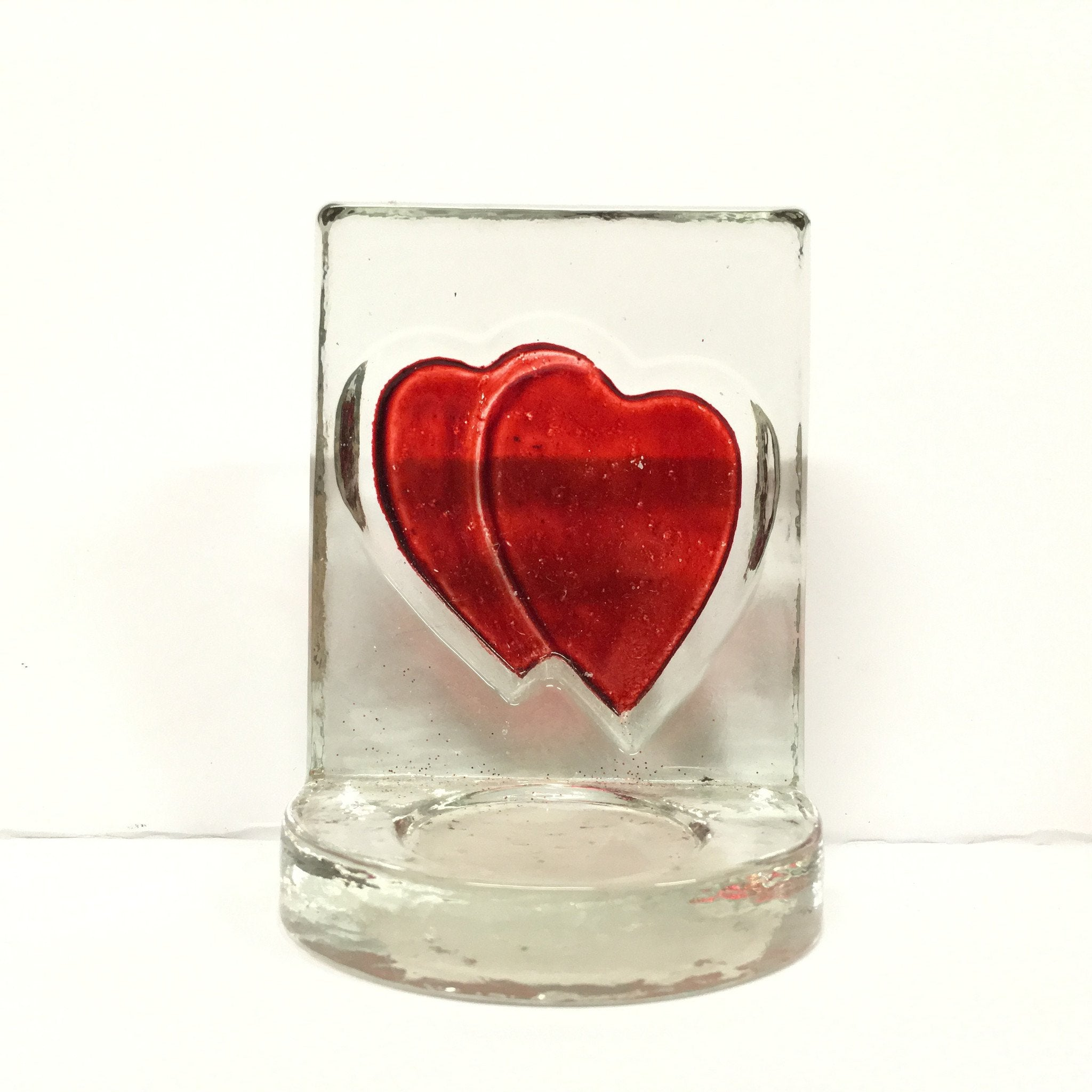 Heart Glass Tealights Holder -  - Bella-Mia Naturals All Natural Soy Candles & Lip Balms - 3