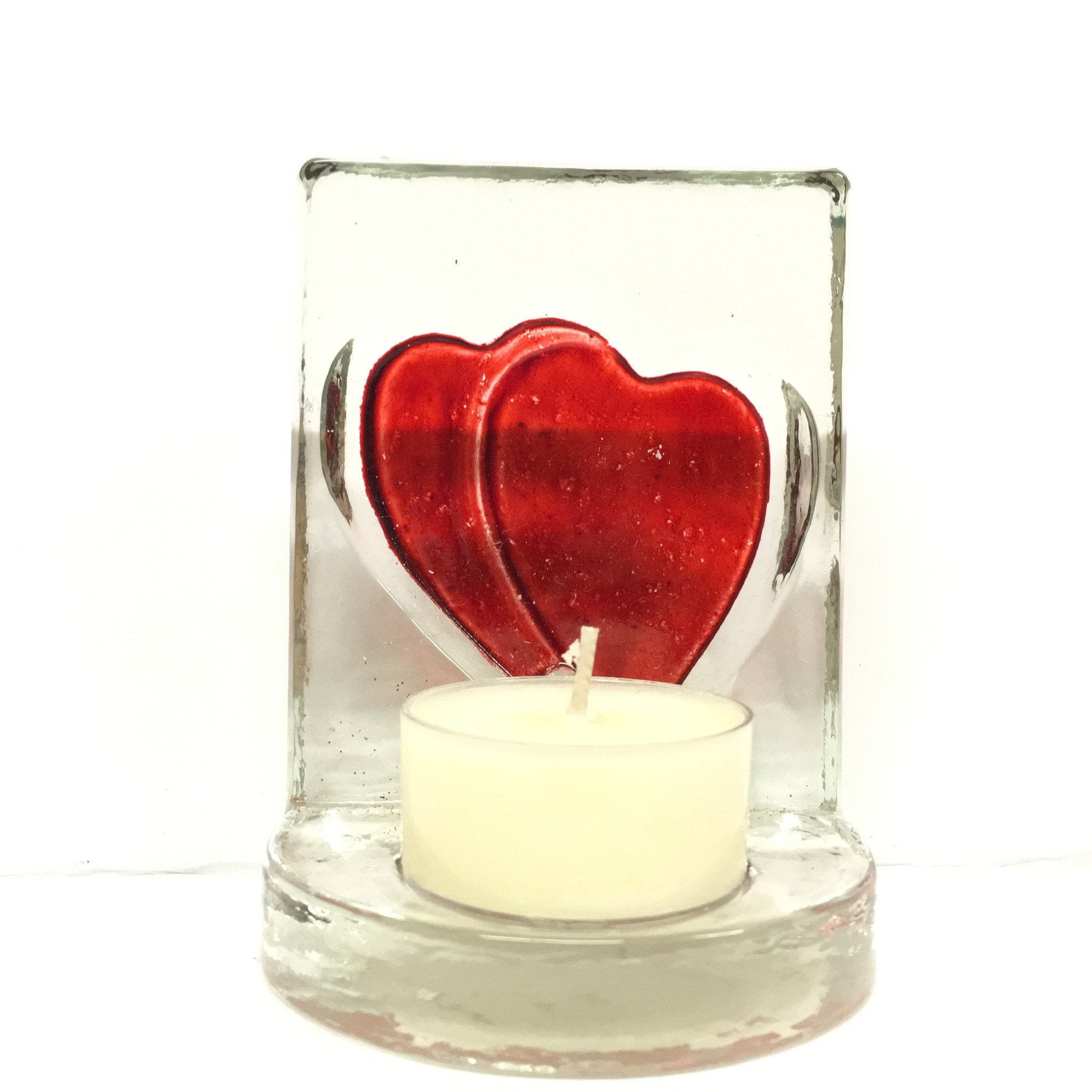 Heart Glass Tealights Holder -  - Bella-Mia Naturals All Natural Soy Candles & Lip Balms - 4