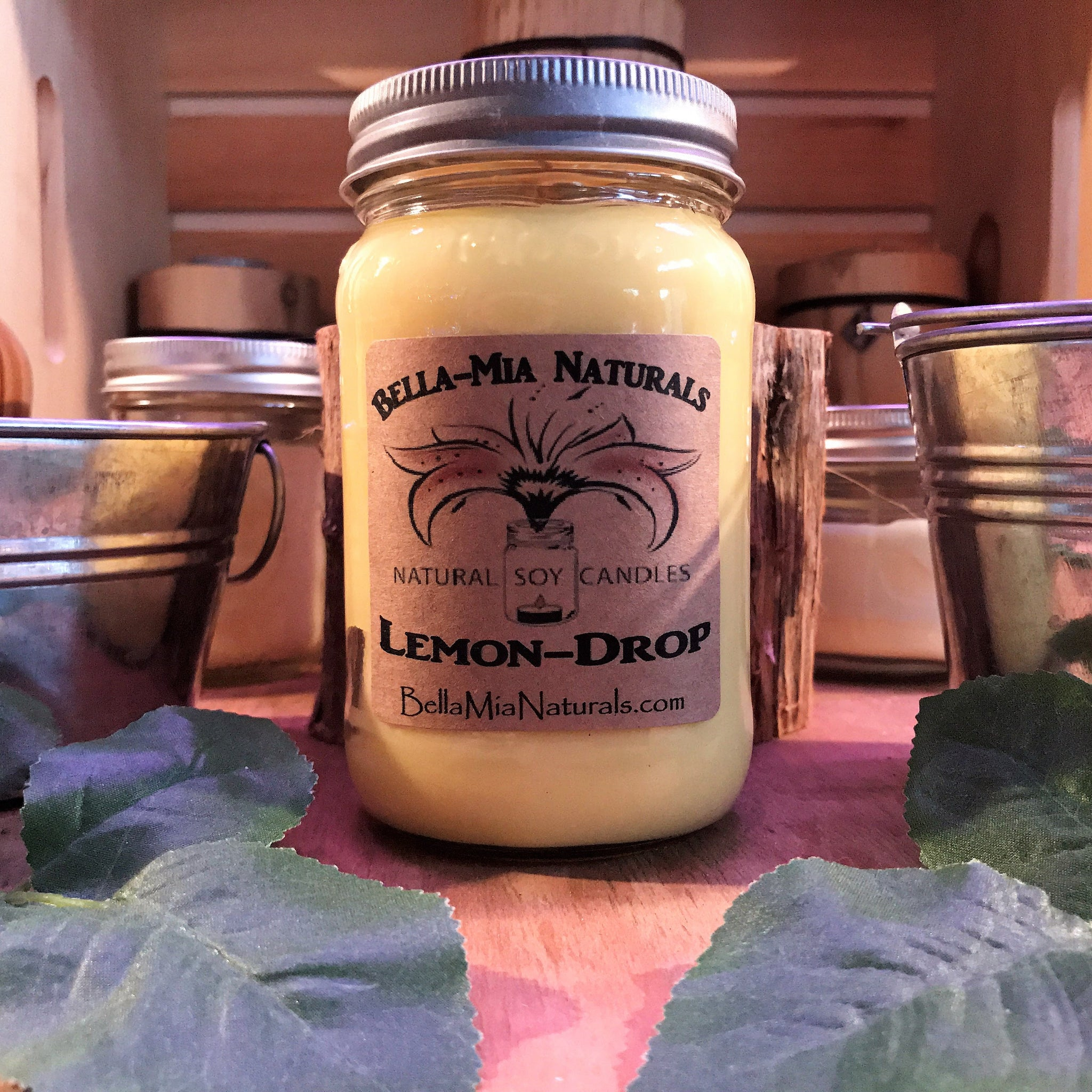 Lemon-Drop Natural Hand Poured Soy Candles & Melts