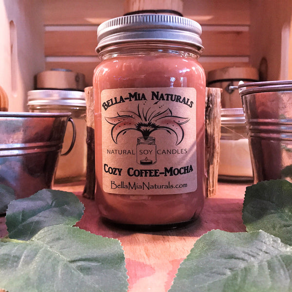 Cozy Coffee-Mocha Natural Hand Poured Soy Candles & Melts