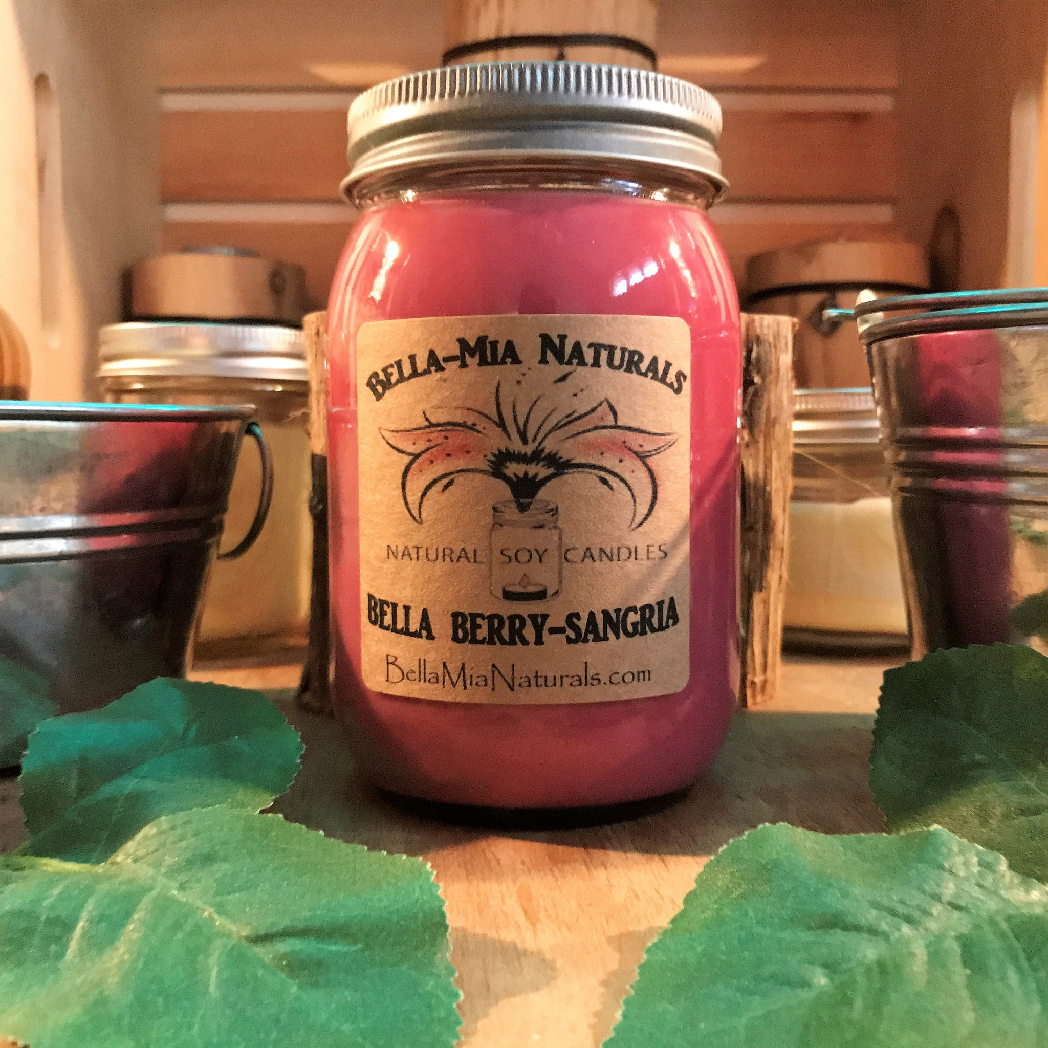 Bella Berry-Sangria Natural Hand Poured Soy Candles