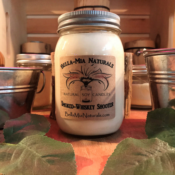 Smoked-Whiskey Shooter Natural Hand Poured Soy Candles & Melts