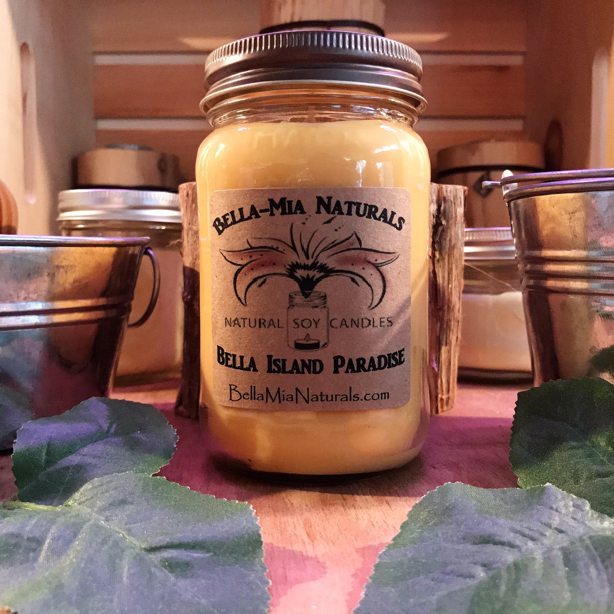 Island Paradise Natural Hand Poured Soy Candles