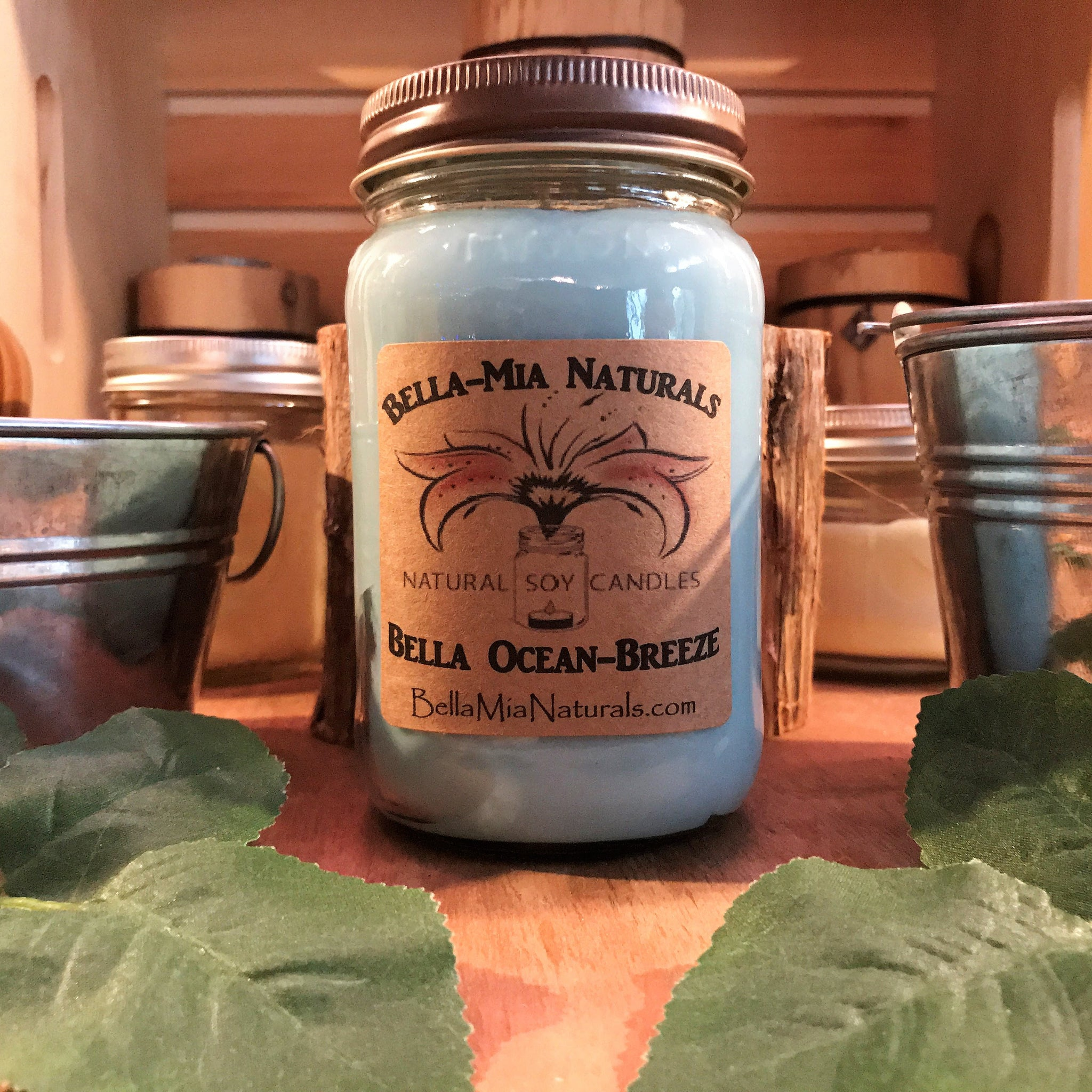 Bella Ocean-Breeze Natural Hand Poured Soy Candles
