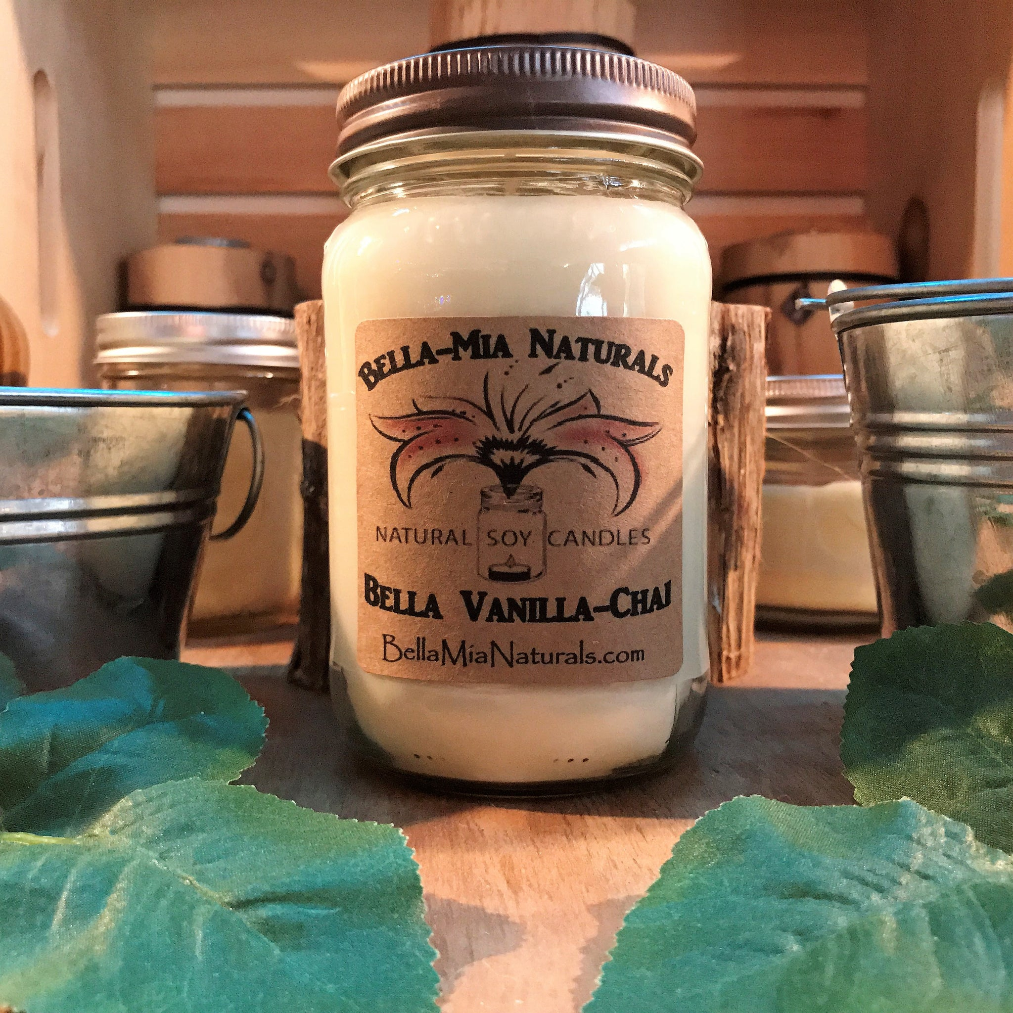 Bella Vanilla-Chai Natural Hand Poured Soy Candles