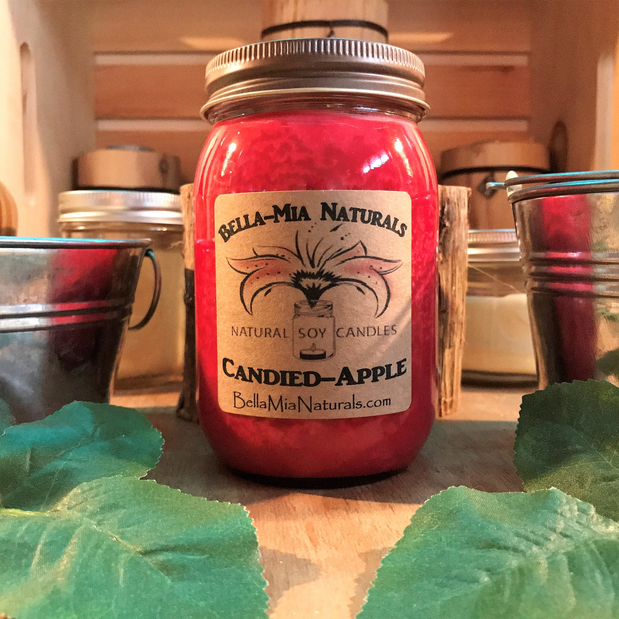 Candied-Apple Natural Hand Poured Soy Candles