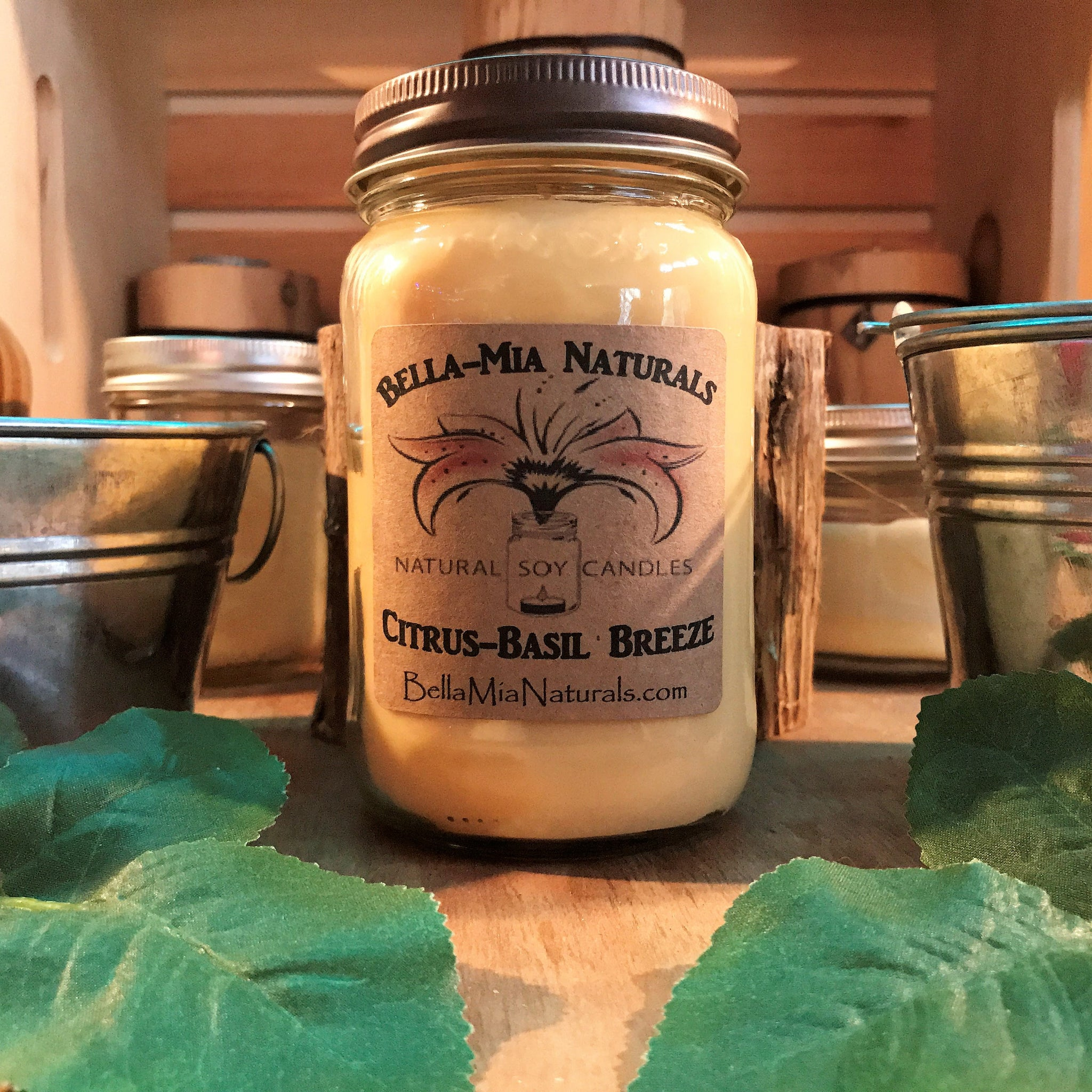 Citrus N' Basil Breeze Natural Hand Poured Soy Candles