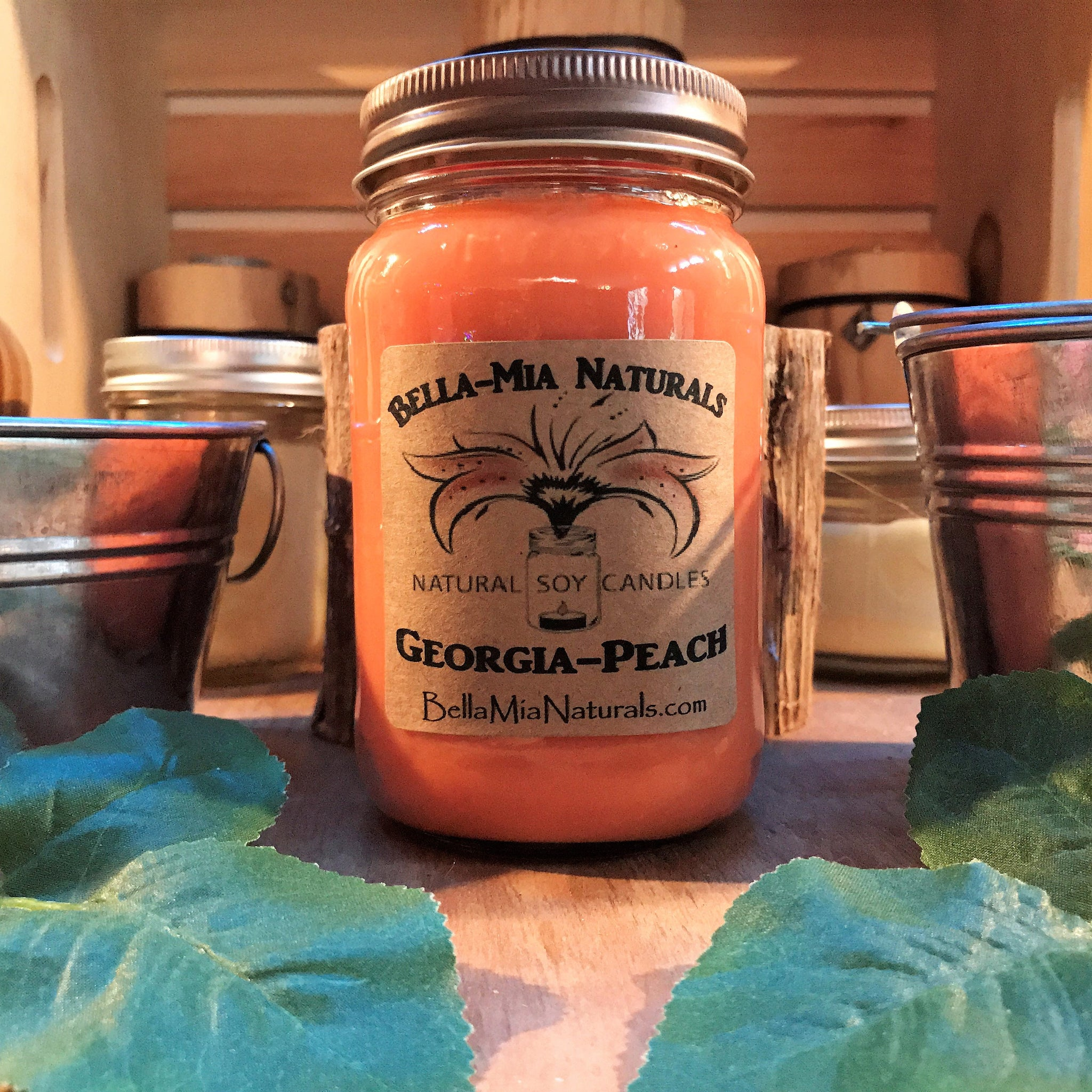 Georgia-Peach Natural Hand Poured Soy Candles