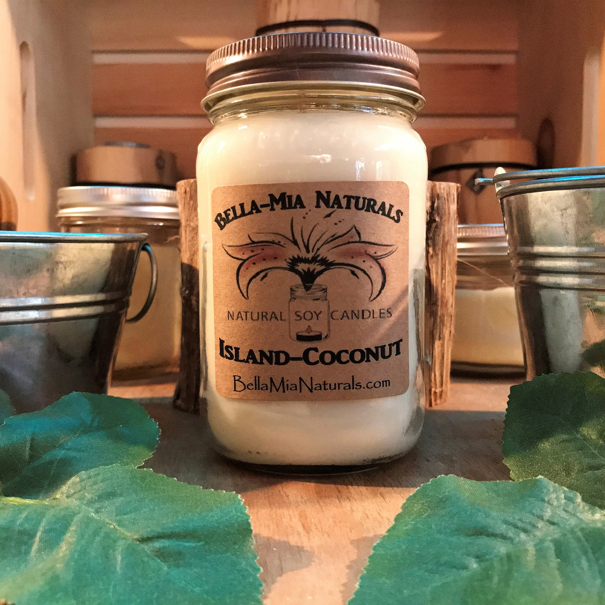 Island-Coconut Natural Hand Poured Soy Candles