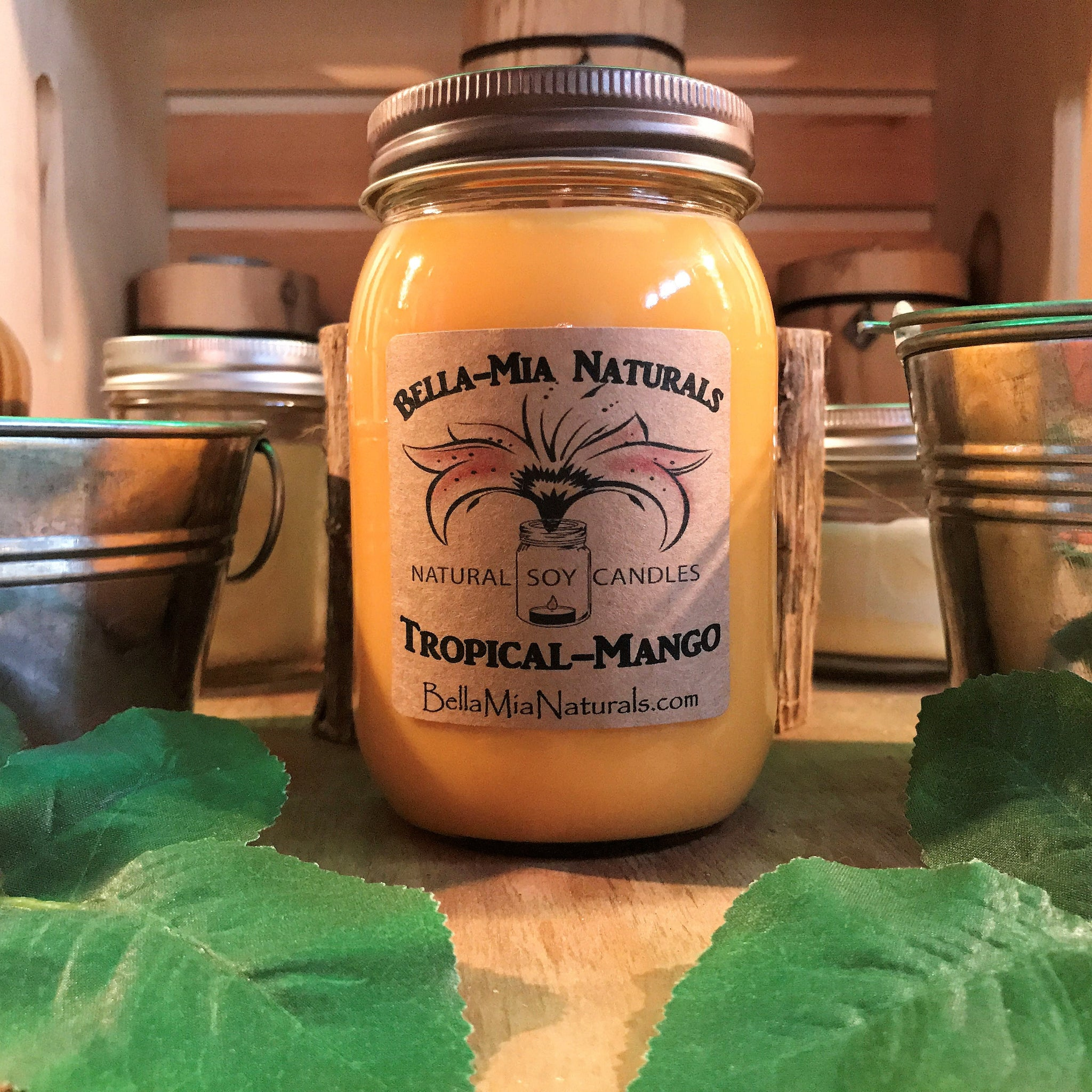 Tropical Mango Natural Hand Poured Soy Candles