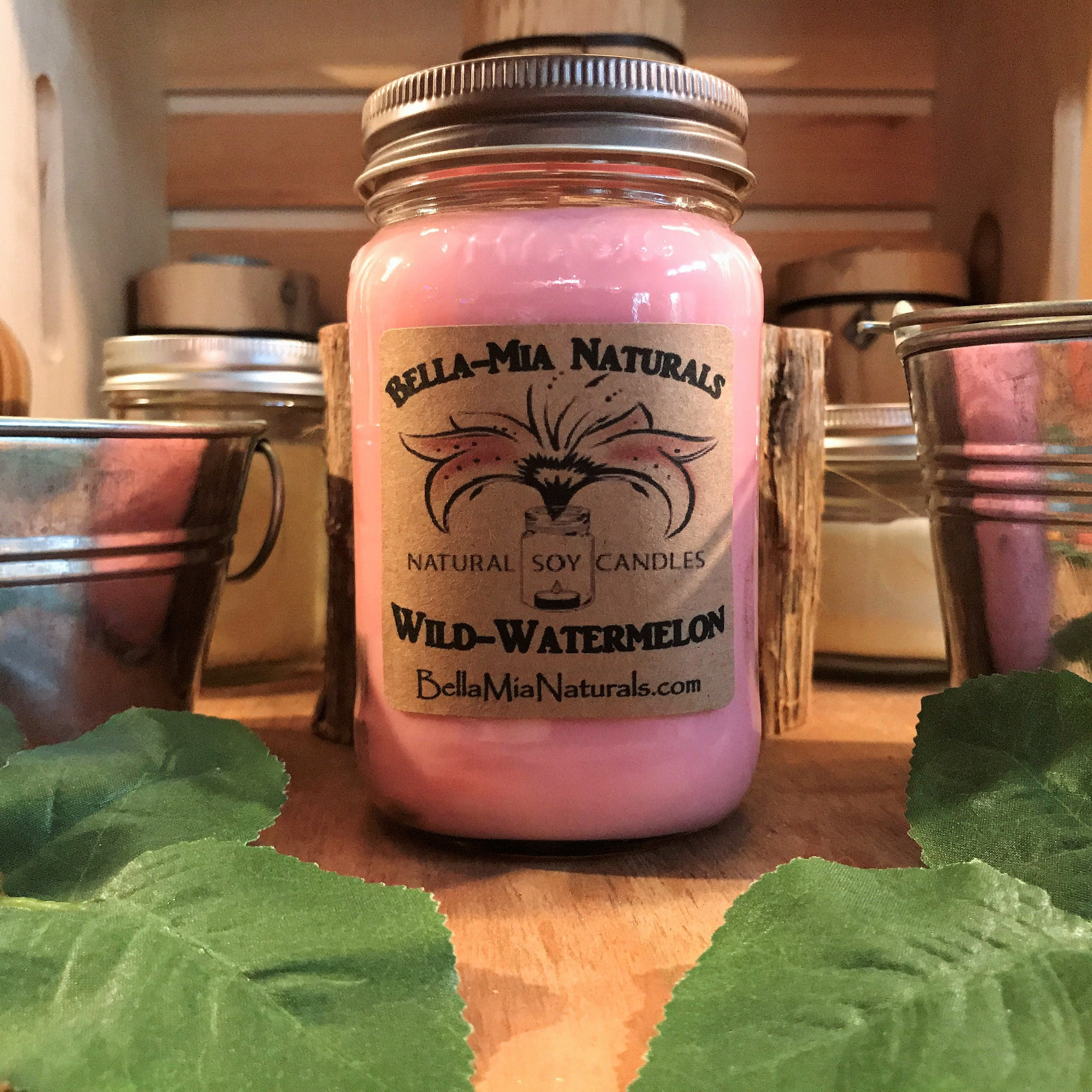 Wild-Watermelon Natural Hand Poured Soy Candles