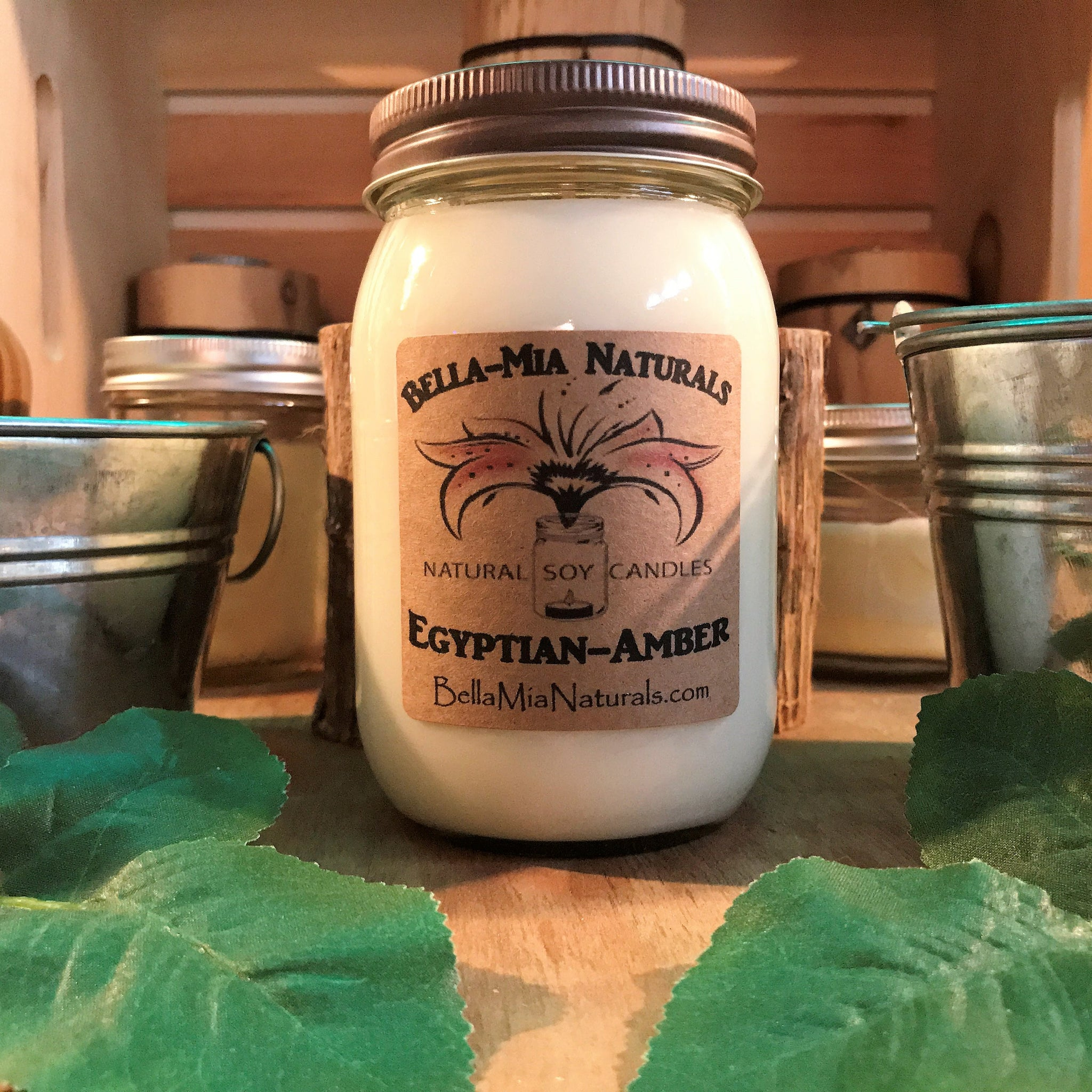 Egyptian-Amber Natural Hand Poured Soy Candles & Melts