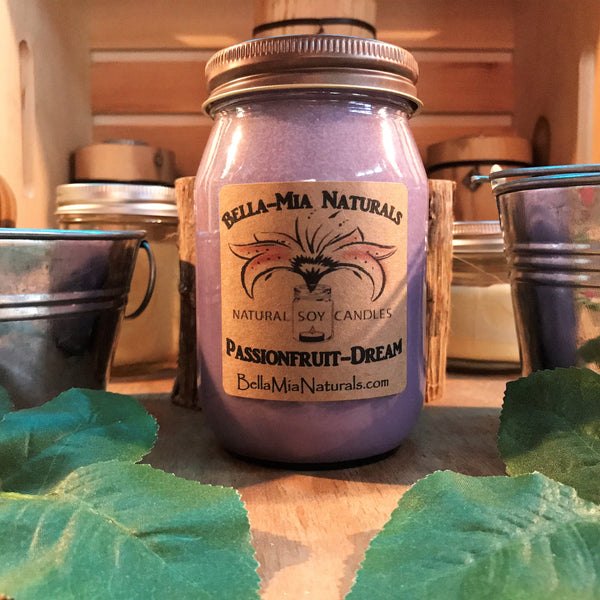 Passionfruit-Dream Natural Hand Poured Soy Candles