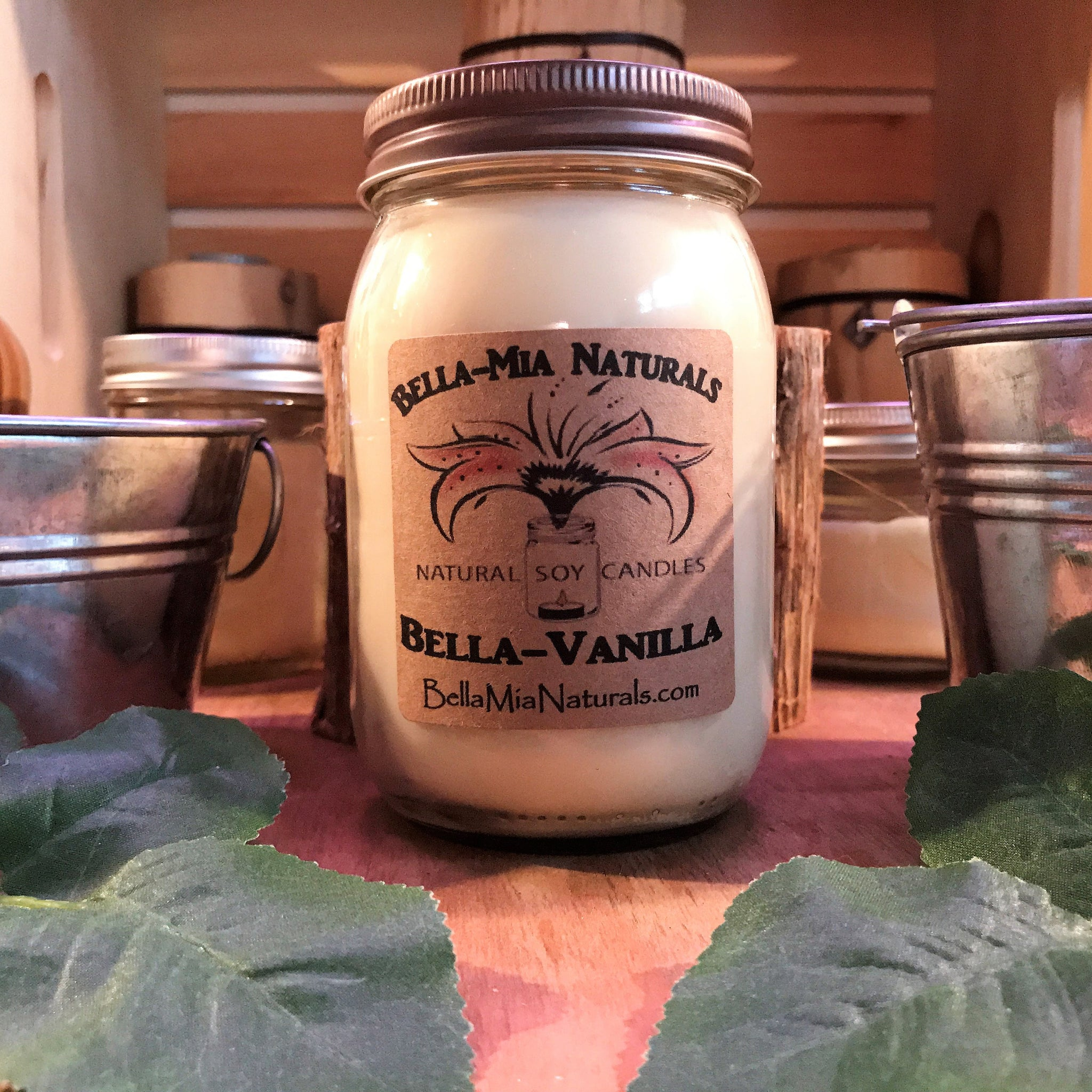 Bella Vanilla Natural Hand Poured Soy Candles