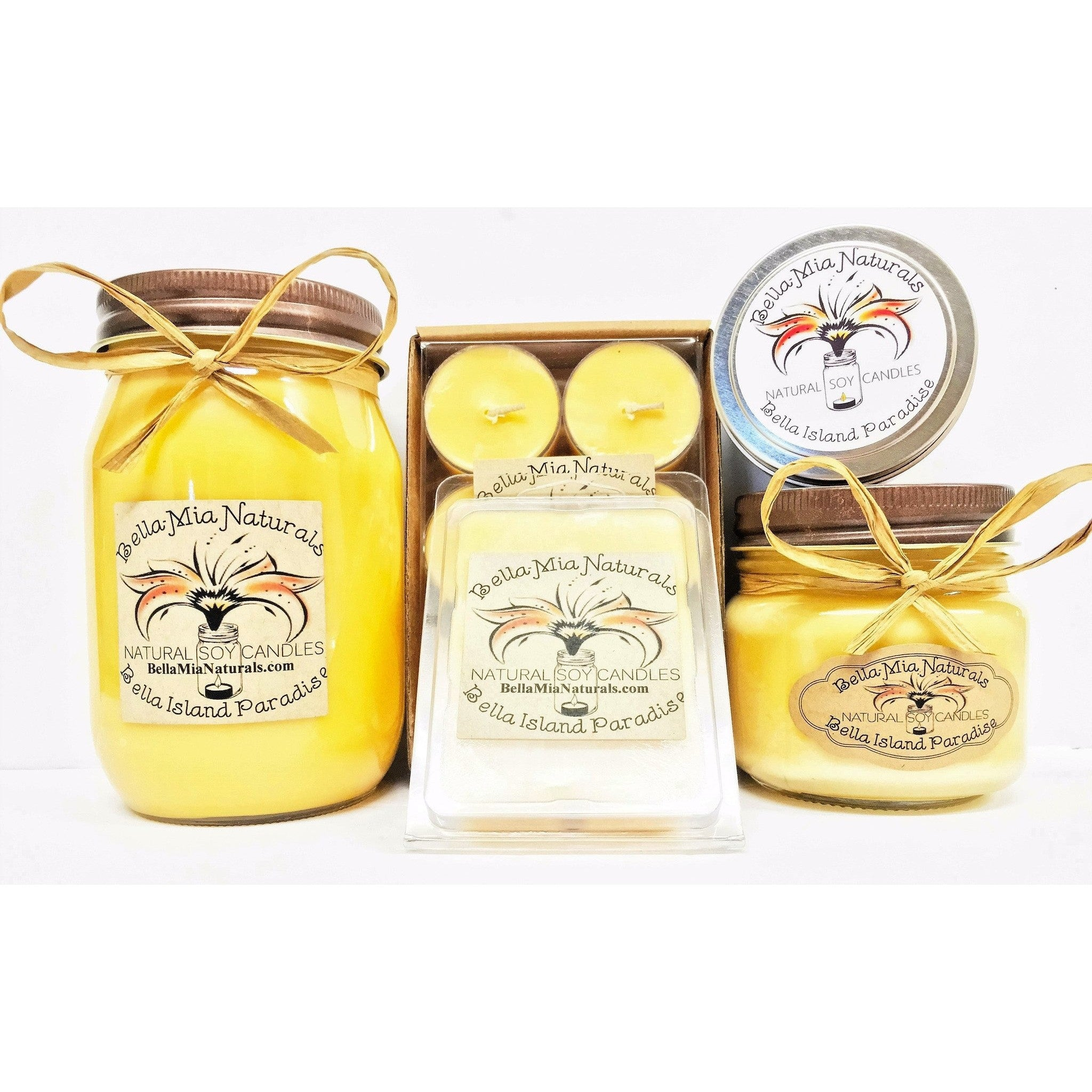 Bella Island Paradise Natural Hand Poured Soy Candles -  - Bella-Mia Naturals All Natural Soy Candles & Lip Balms - 1