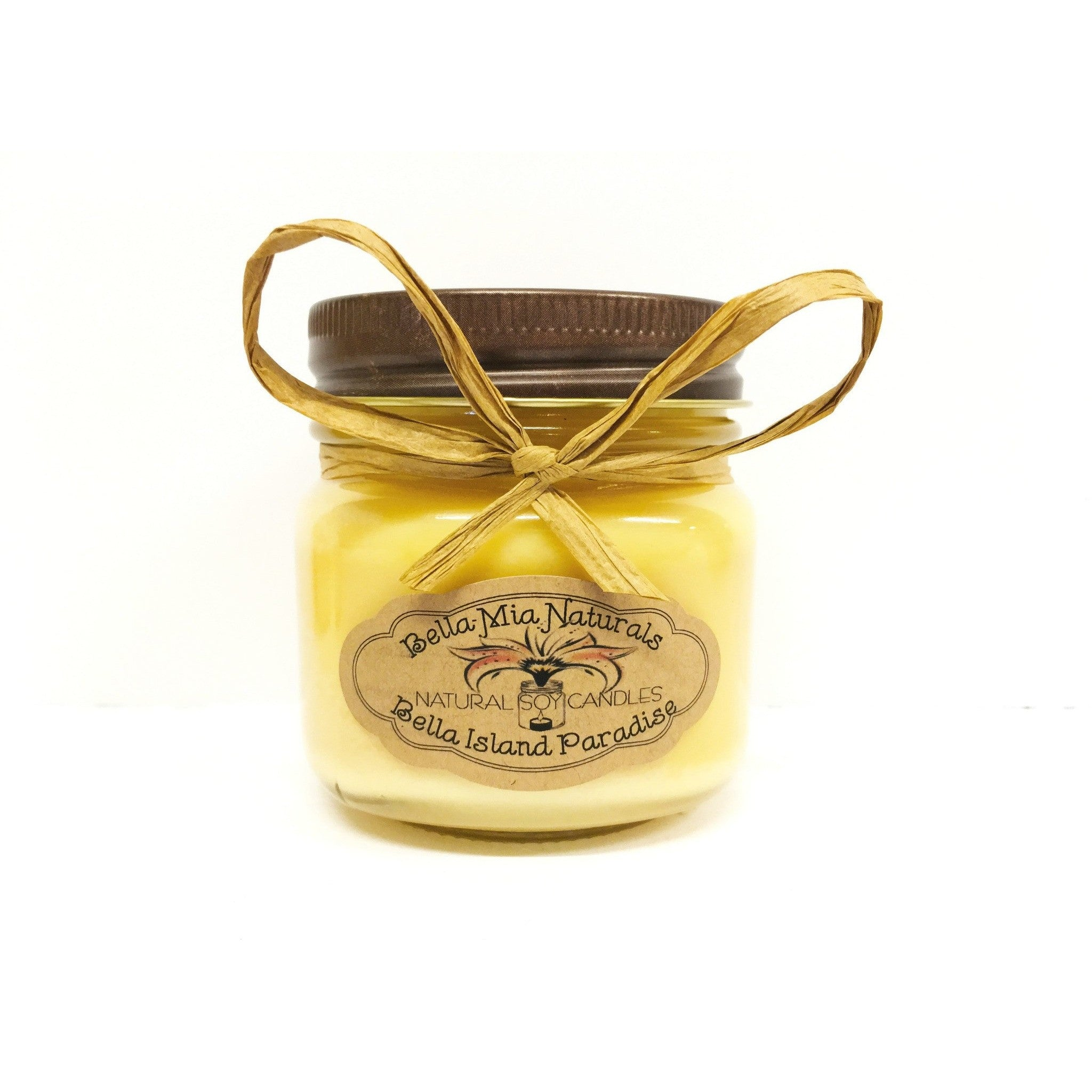Bella Island Paradise Natural Hand Poured Soy Candles - Half-Pint - Bella-Mia Naturals All Natural Soy Candles & Lip Balms - 3