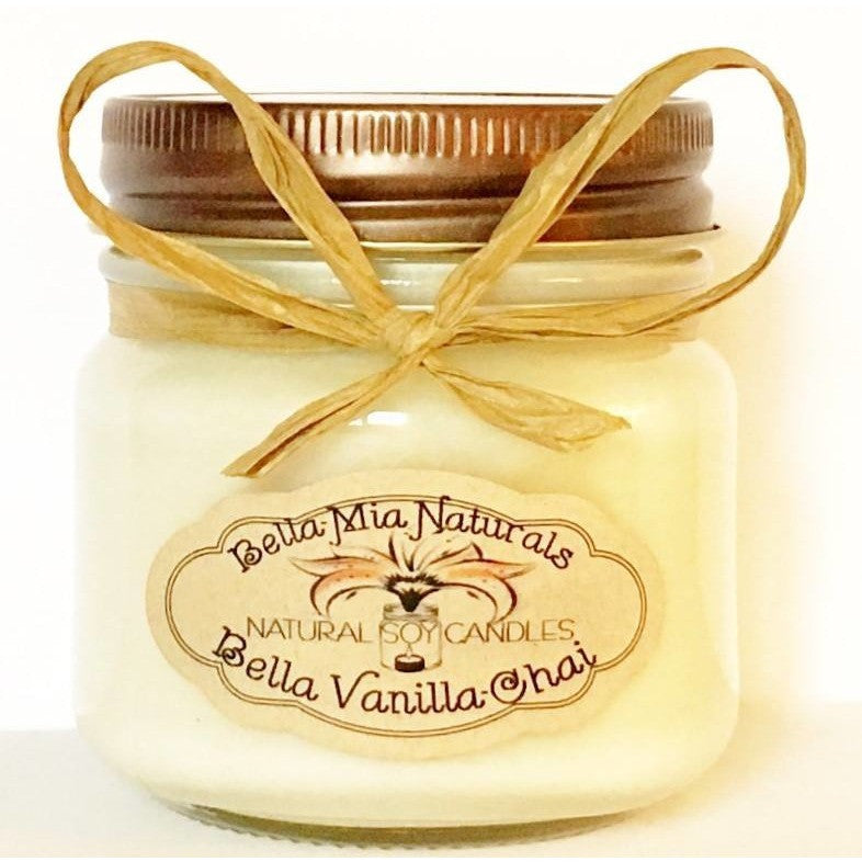 Bella Vanilla-Chai Natural Hand Poured Soy Candles - Half-Pint - Bella-Mia Naturals All Natural Soy Candles & Lip Balms - 2