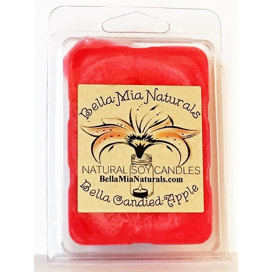 Candied-Apple Natural Hand Poured Soy Candles - Melt-6 Pack - Bella-Mia Naturals All Natural Soy Candles & Lip Balms - 4