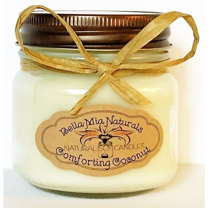 Comforting Coconut Natural Hand Poured Soy Candles - Half-Pint - Bella-Mia Naturals All Natural Soy Candles & Lip Balms - 2
