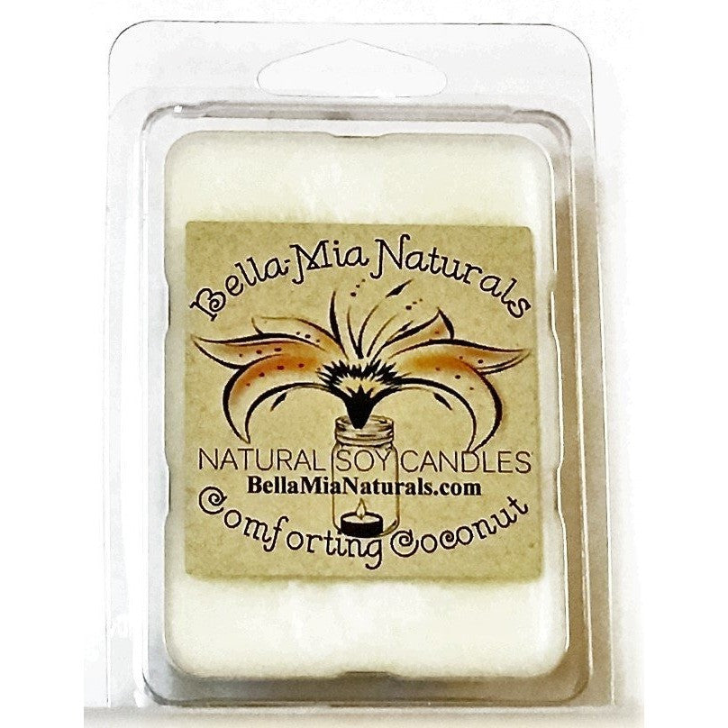 Comforting Coconut Natural Hand Poured Soy Candles - Melt-6 Pack - Bella-Mia Naturals All Natural Soy Candles & Lip Balms - 4