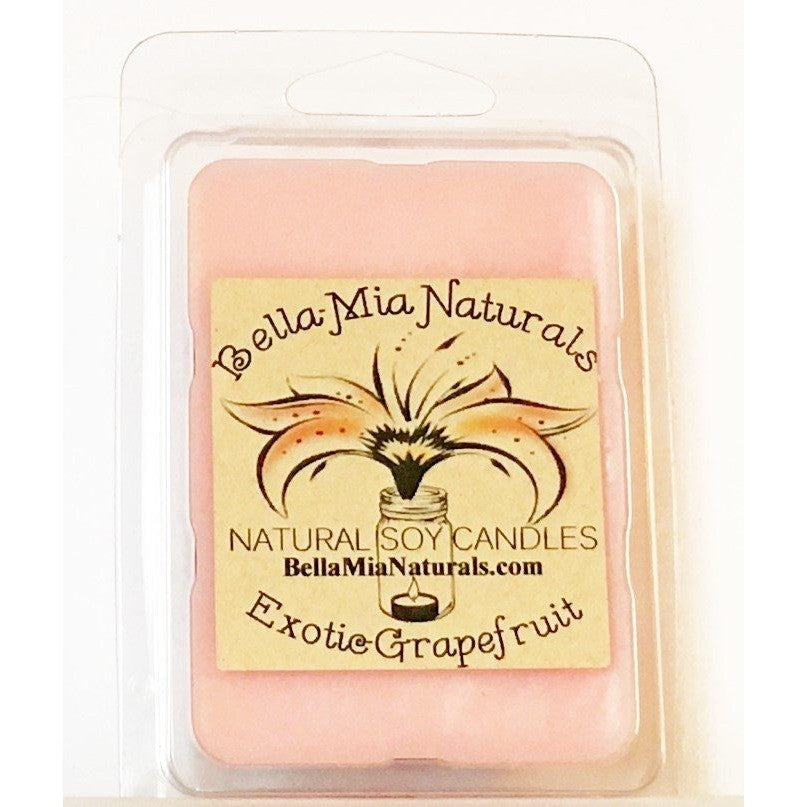 Exotic-Grapefruit Natural Hand Poured Soy Candles - Melt-6 Pack - Bella-Mia Naturals All Natural Soy Candles & Lip Balms - 4