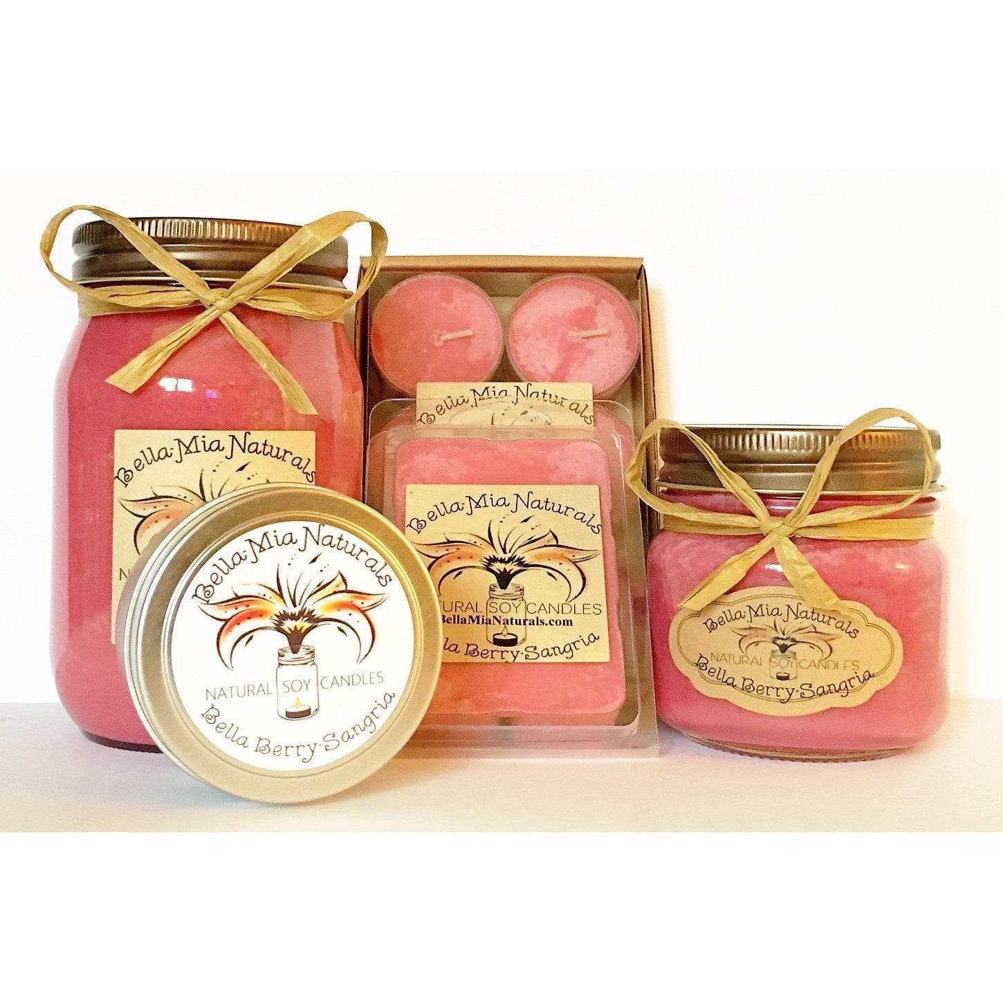 Bella Berry-Sangria Natural Hand Poured Soy Candles -  - Bella-Mia Naturals All Natural Soy Candles & Lip Balms - 1