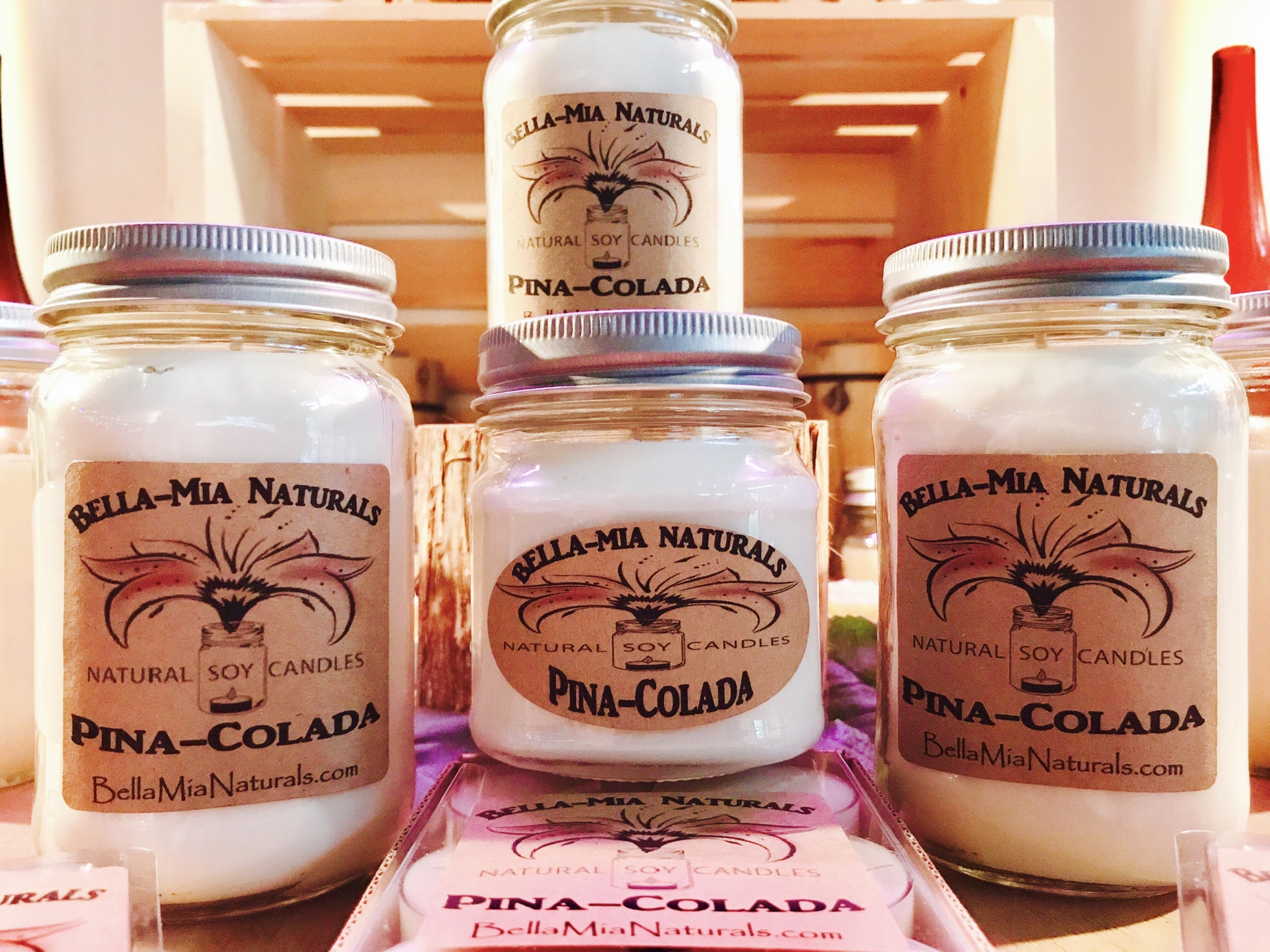 Pina-Colada Natural Hand Poured Soy Candles