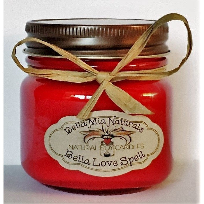 Bella Love Spell Natural Hand Poured Soy Candles & Melts - Half-Pint - Bella-Mia Naturals All Natural Soy Candles & Lip Balms - 3