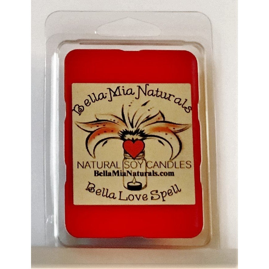 Bella Love Spell Natural Hand Poured Soy Candles & Melts - Melt-6 Pack - Bella-Mia Naturals All Natural Soy Candles & Lip Balms - 5