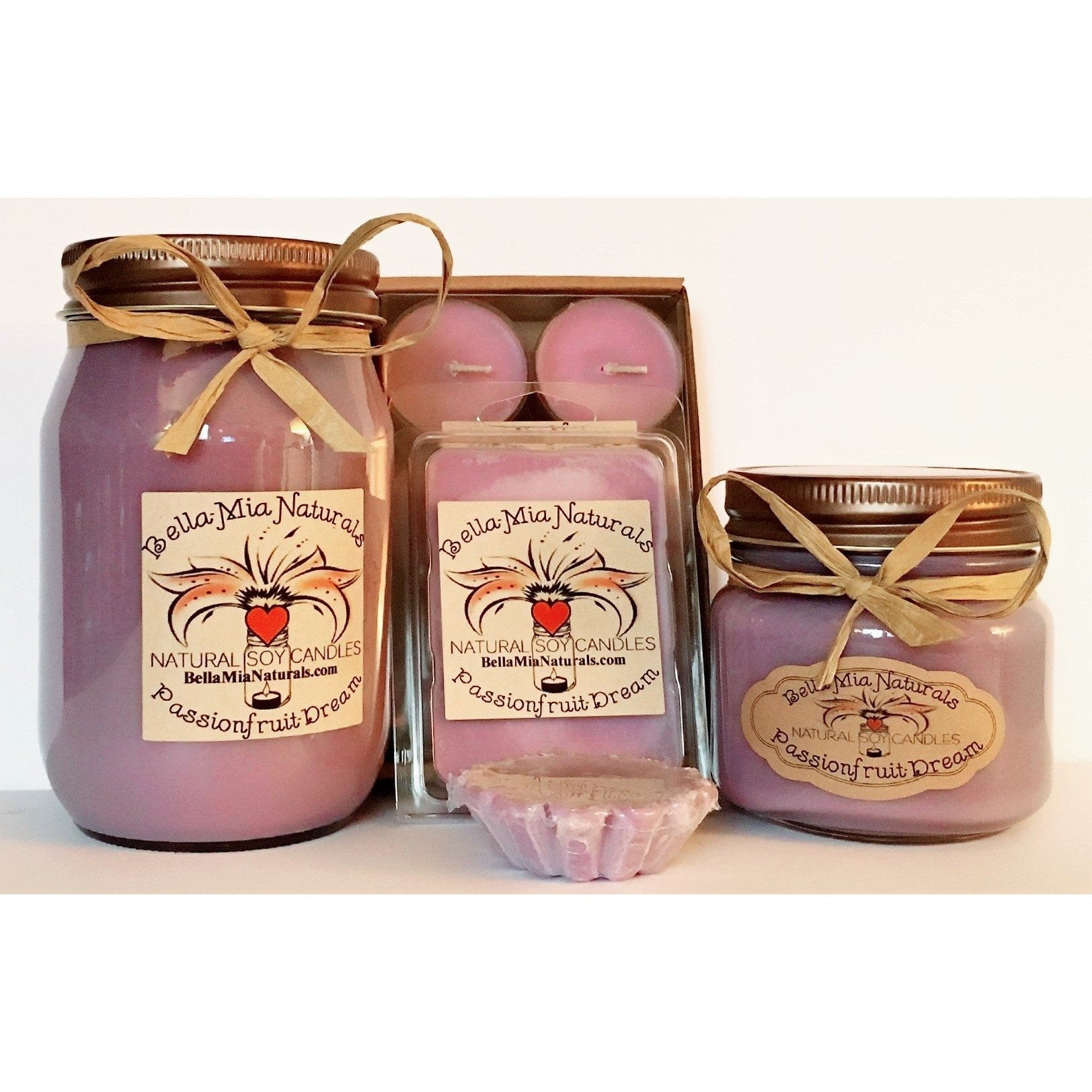 Passionfruit-Dream Natural Hand Poured Soy Candles -  - Bella-Mia Naturals All Natural Soy Candles & Lip Balms - 1