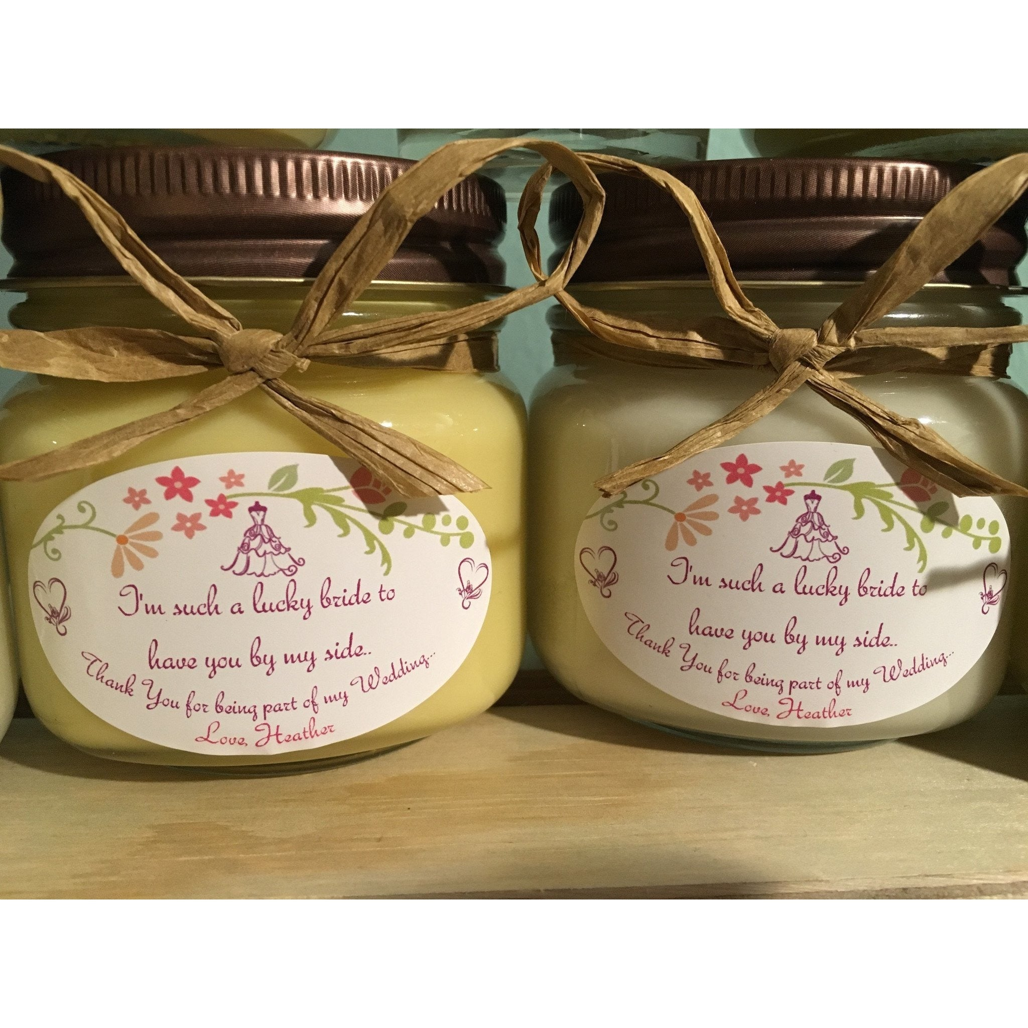 Wedding & Shower Party Natural Hand Poured Soy Candles & Melts -  - Bella-Mia Naturals All Natural Soy Candles & Lip Balms - 12