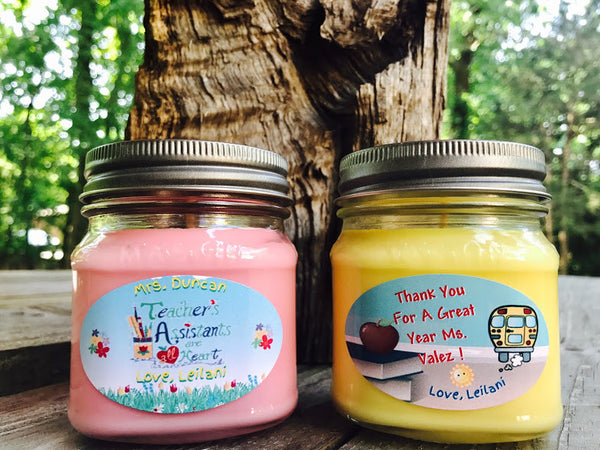 End Of School Thank You Teachers Natural Hand Poured Soy Candles & Melts