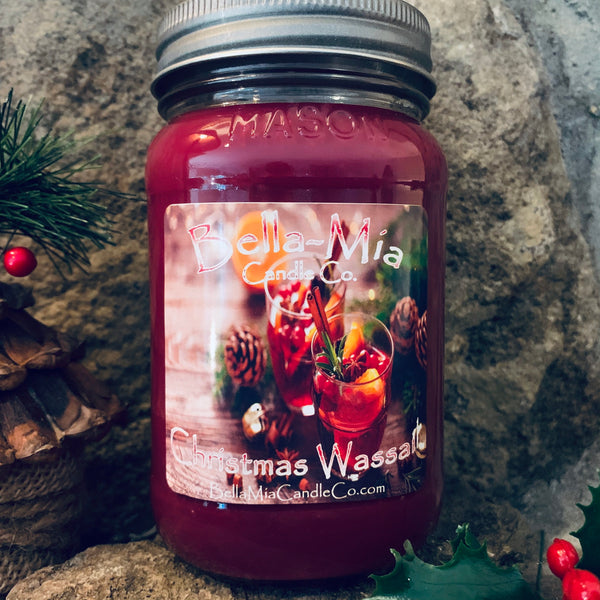 Christmas-Wassail Natural Hand Poured Soy Candles