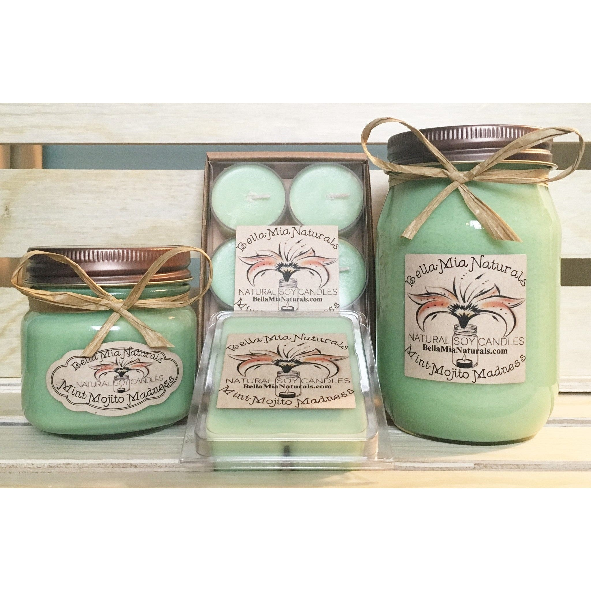 Mint-Mojito Natural Hand Poured Soy Candles -  - Bella-Mia Naturals All Natural Soy Candles & Lip Balms - 1