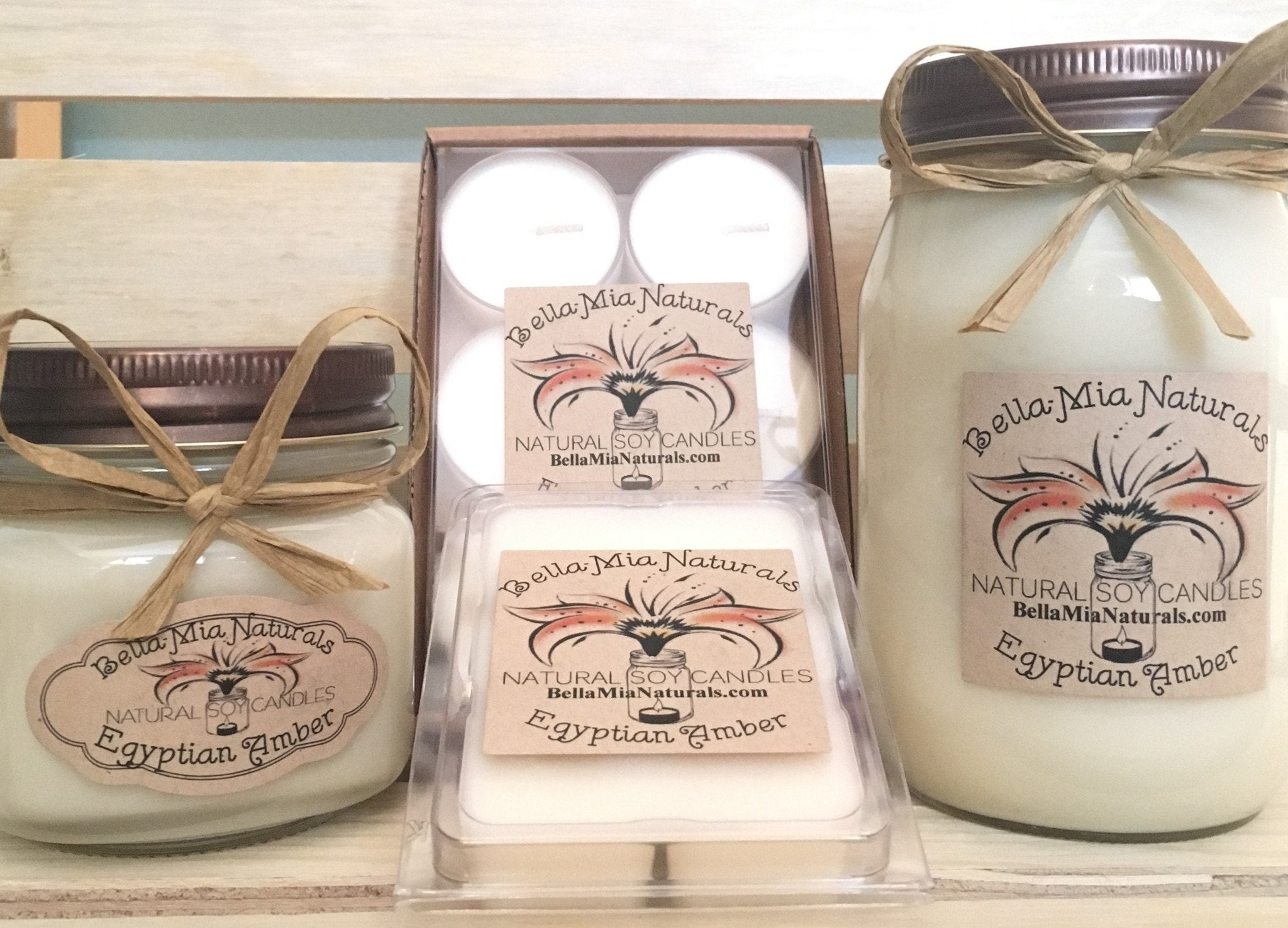 Egyptian-Amber Natural Hand Poured Soy Candles & Melts -  - Bella-Mia Naturals All Natural Soy Candles & Lip Balms - 1