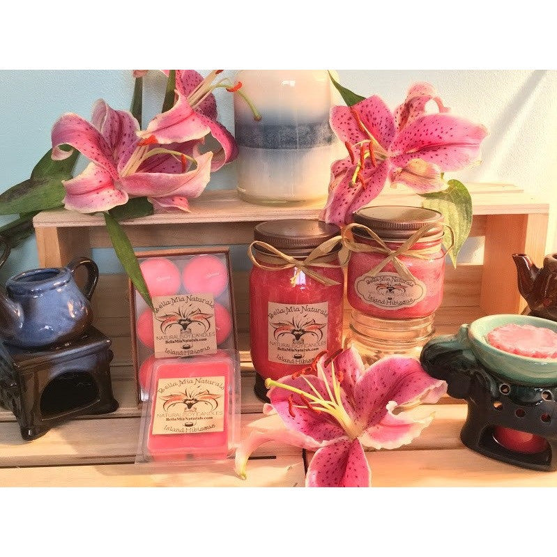 Island-Hibiscus Natural Hand Poured Soy Candles -  - Bella-Mia Naturals All Natural Soy Candles & Lip Balms - 2