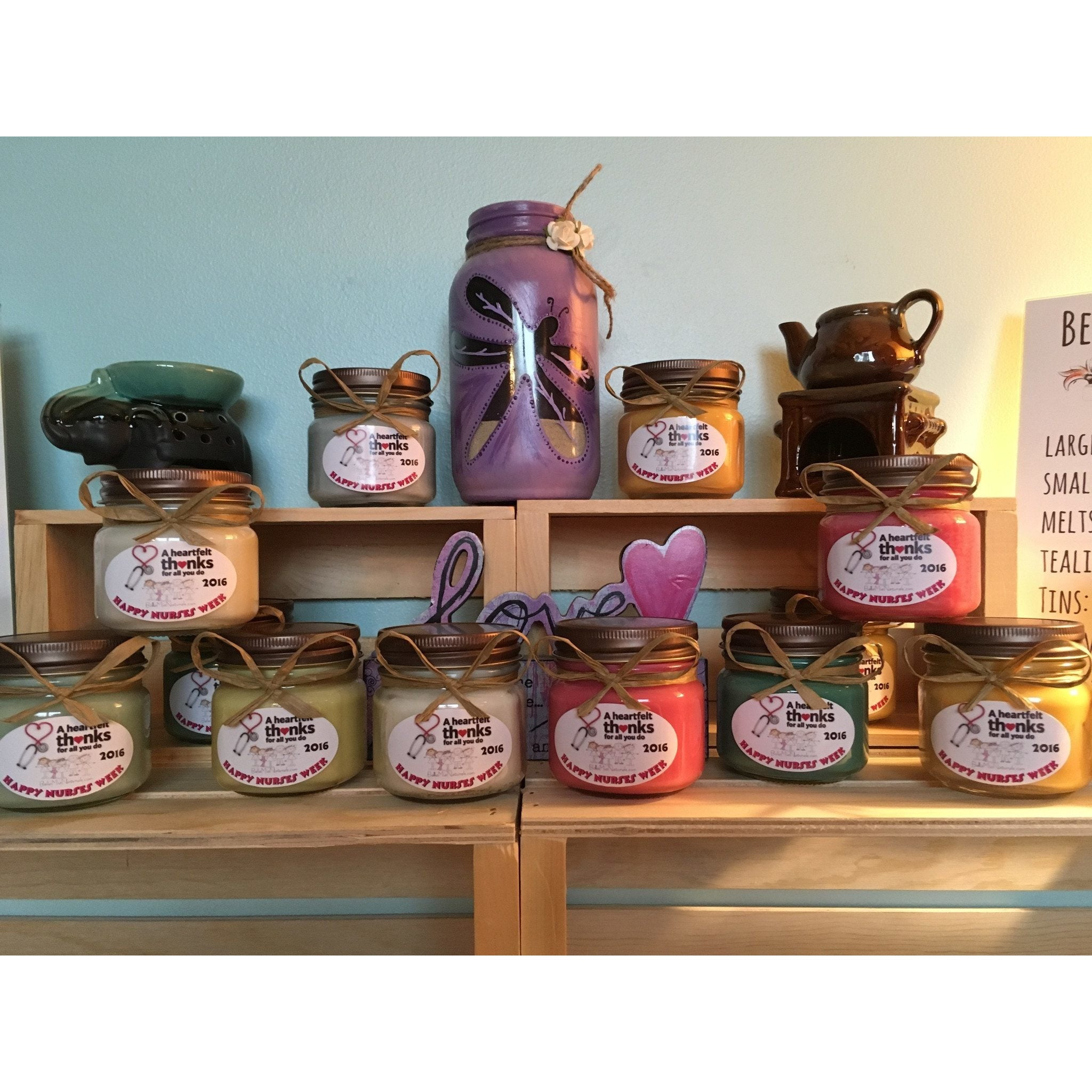 Nurses Week Natural Hand Poured Soy Candles & Melts -  - Bella-Mia Naturals All Natural Soy Candles & Lip Balms - 4
