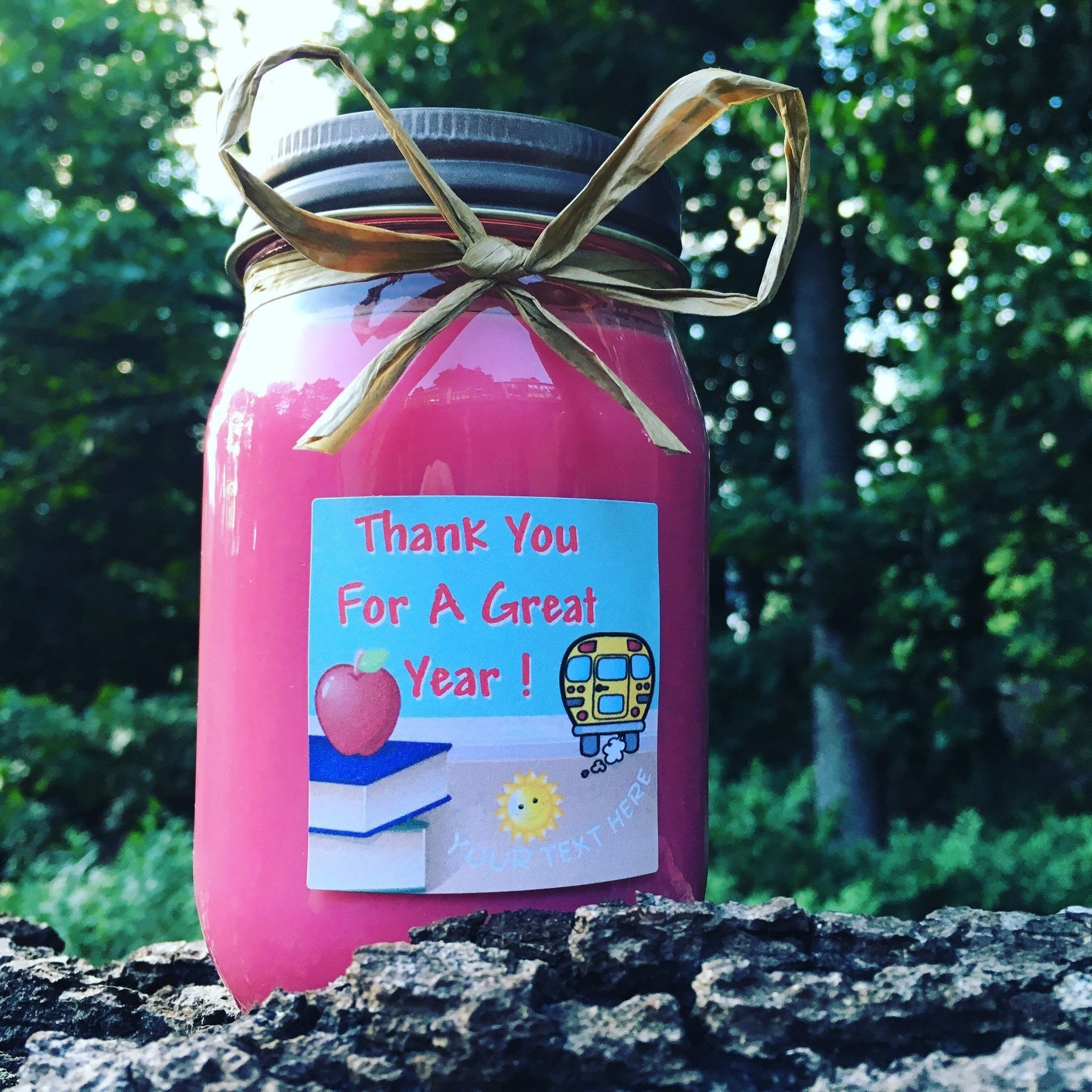 End Of School Thank You Teachers Natural Hand Poured Soy Candles & Melts - Pint - Bella-Mia Naturals All Natural Soy Candles & Lip Balms - 3