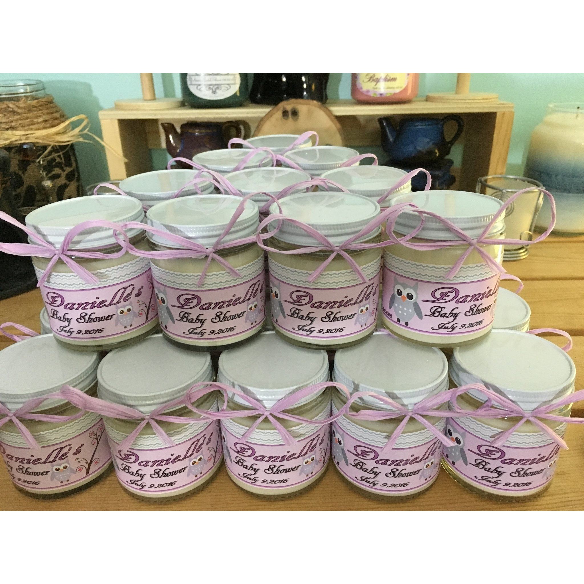 4oz. Baby Food Jar Soy Candles with Custom Labels -  - Bella-Mia Naturals All Natural Soy Candles & Lip Balms - 2