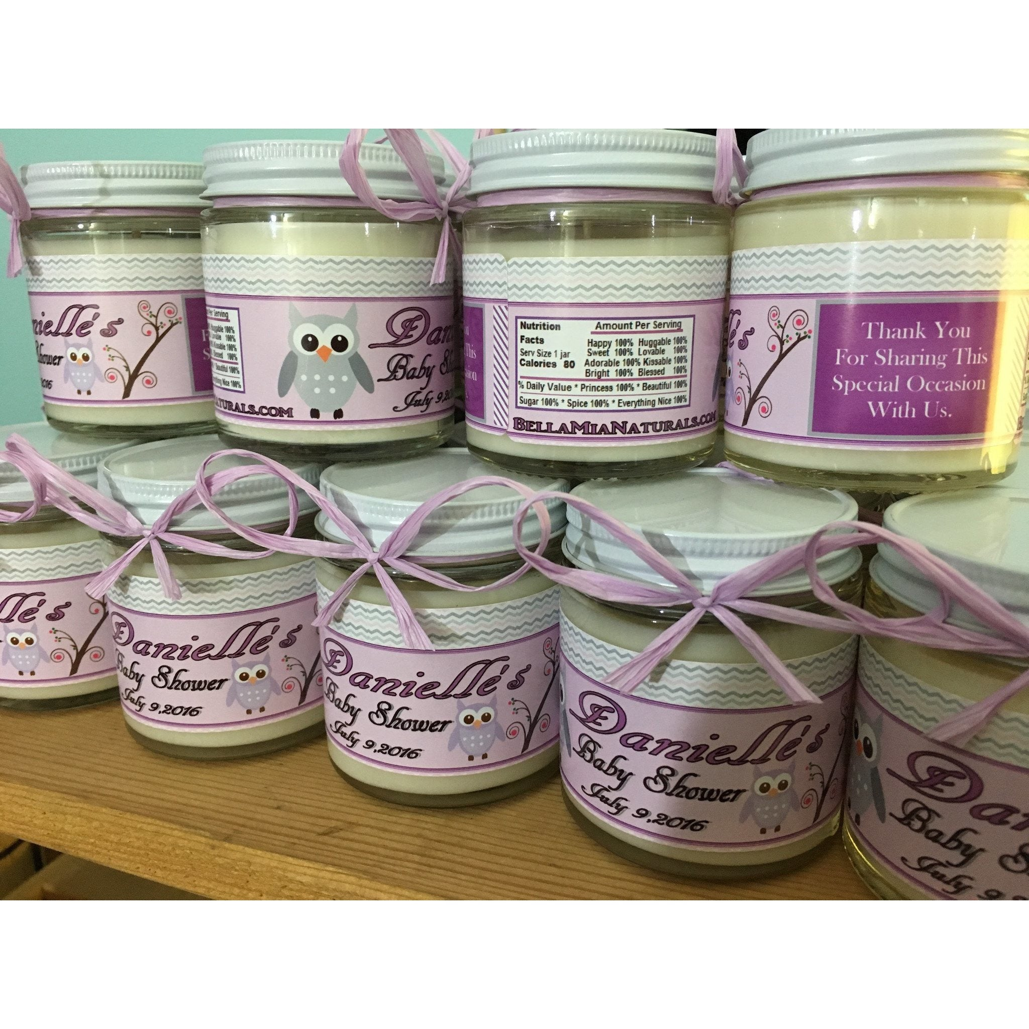 4oz. Baby Food Jar Soy Candles with Custom Labels -  - Bella-Mia Naturals All Natural Soy Candles & Lip Balms - 3