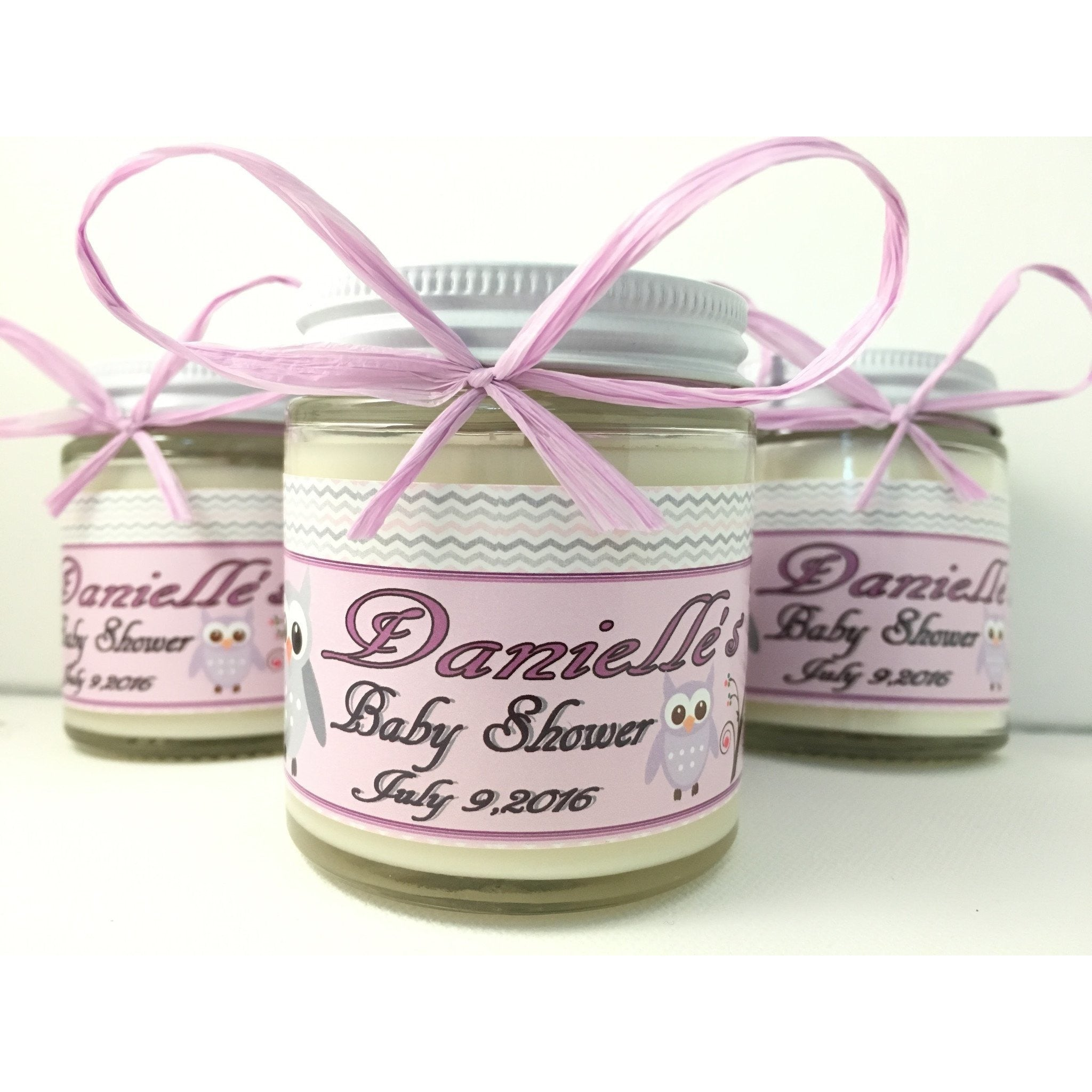 4oz. Baby Food Jar Soy Candles with Custom Labels -  - Bella-Mia Naturals All Natural Soy Candles & Lip Balms - 4