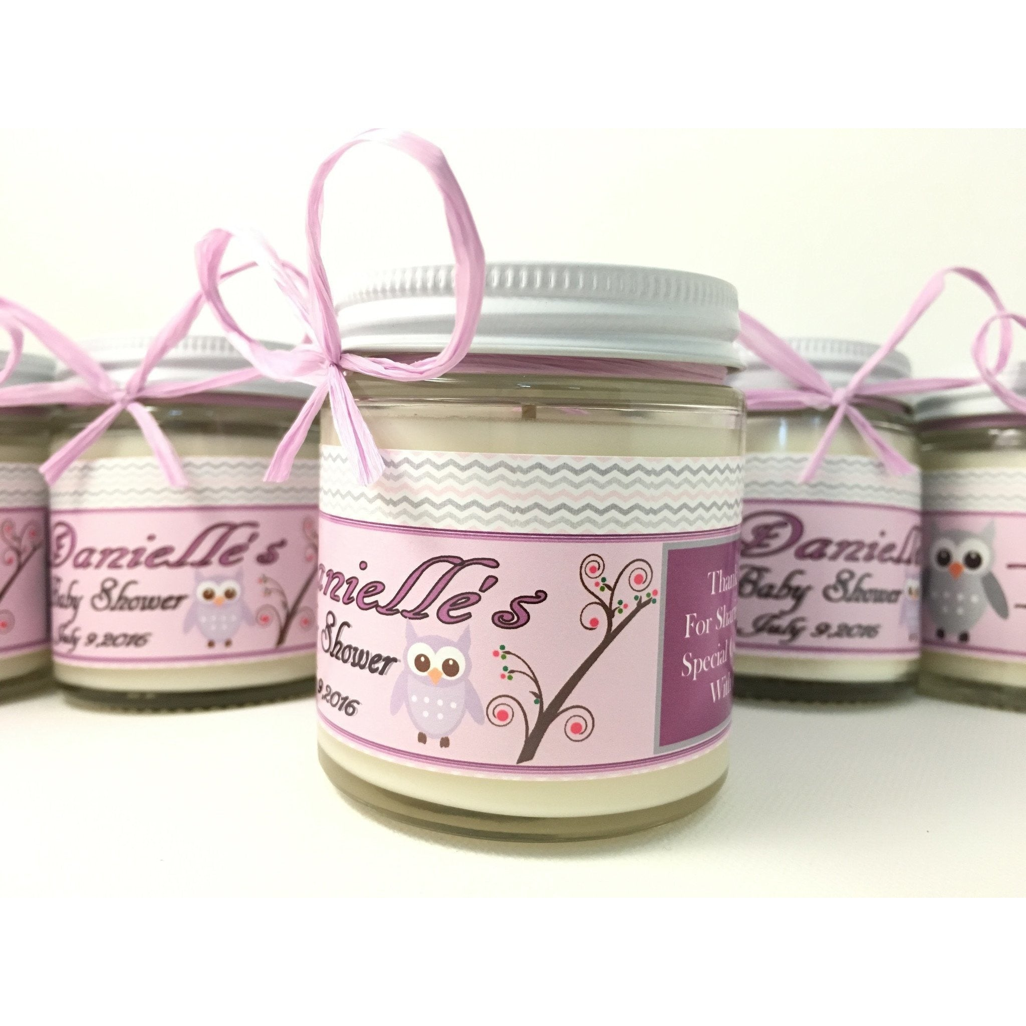 4oz. Baby Food Jar Soy Candles with Custom Labels -  - Bella-Mia Naturals All Natural Soy Candles & Lip Balms - 5