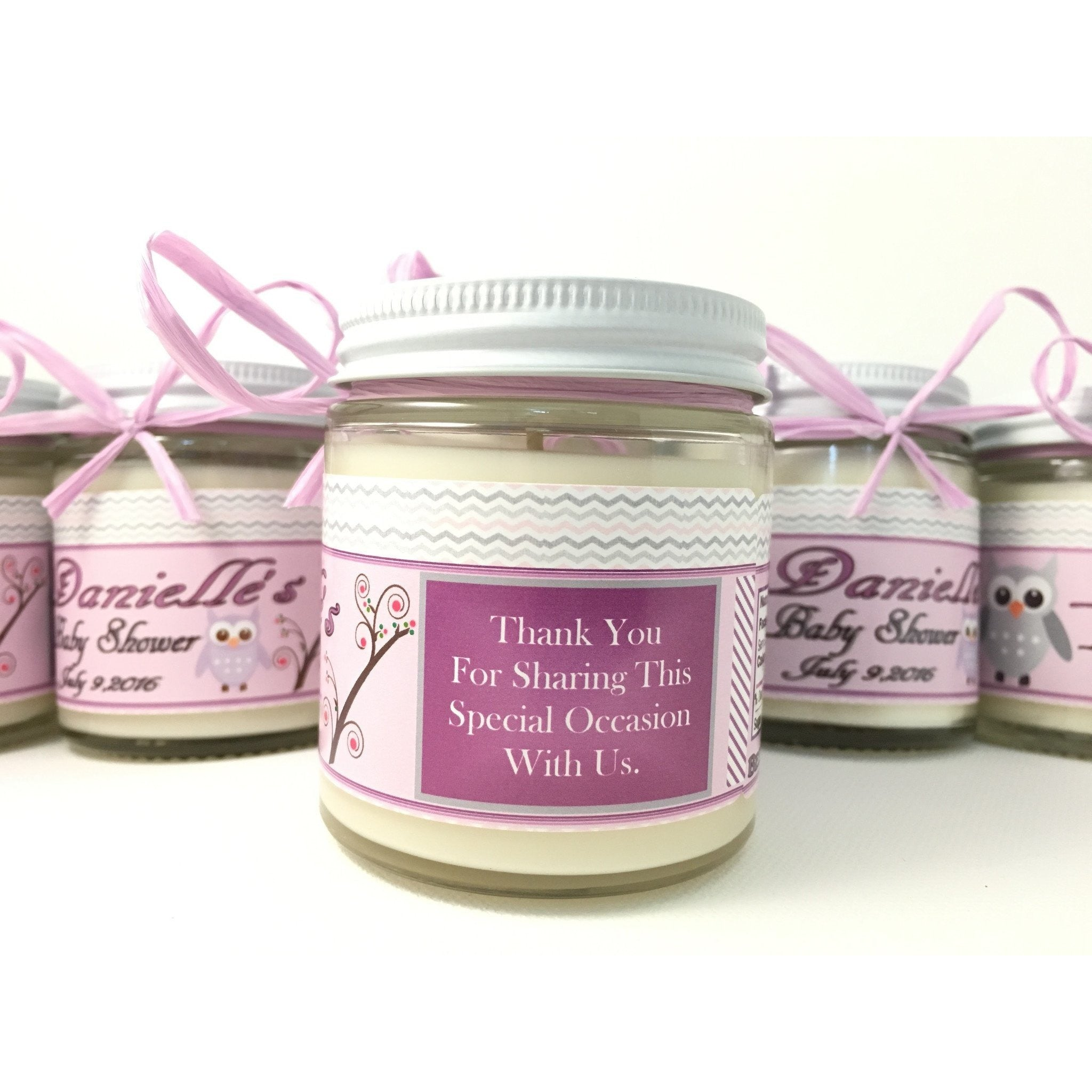 4oz. Baby Food Jar Soy Candles with Custom Labels -  - Bella-Mia Naturals All Natural Soy Candles & Lip Balms - 6