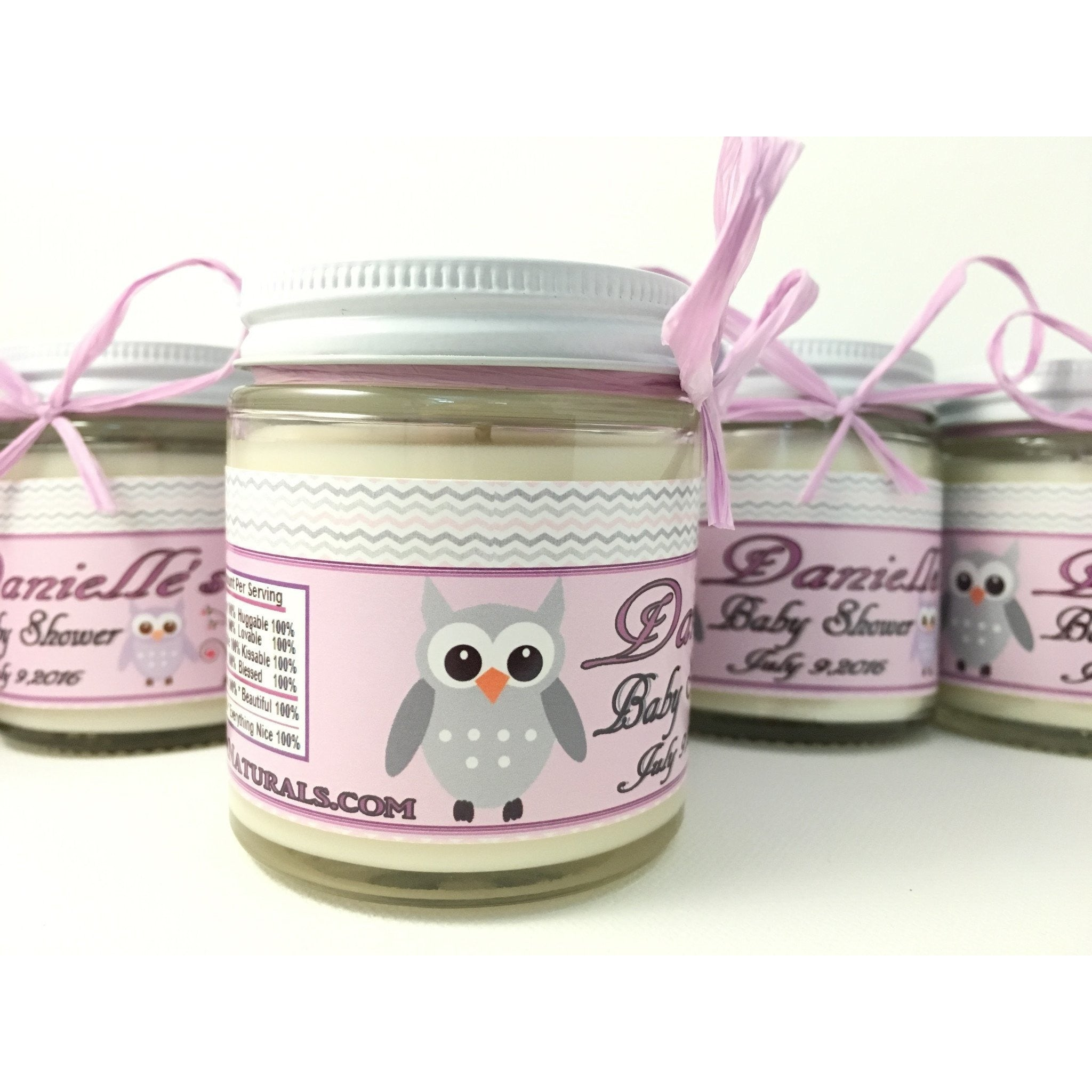 4oz. Baby Food Jar Soy Candles with Custom Labels -  - Bella-Mia Naturals All Natural Soy Candles & Lip Balms - 7