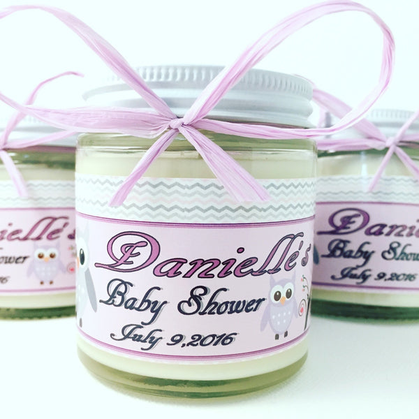 4oz. Baby Food Jar Soy Candles with Custom Labels - 4oz Baby Food Jar - Bella-Mia Naturals All Natural Soy Candles & Lip Balms - 1