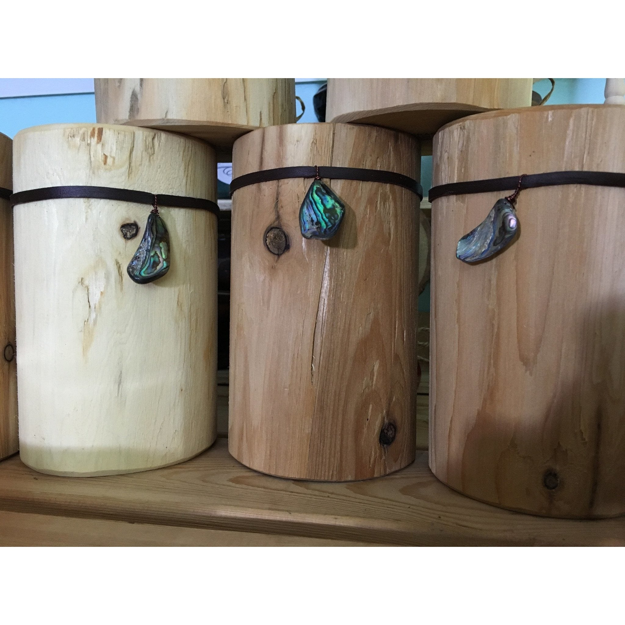 Natural White Cedar Wood Tealight Holders -  - Bella-Mia Naturals All Natural Soy Candles & Lip Balms - 1