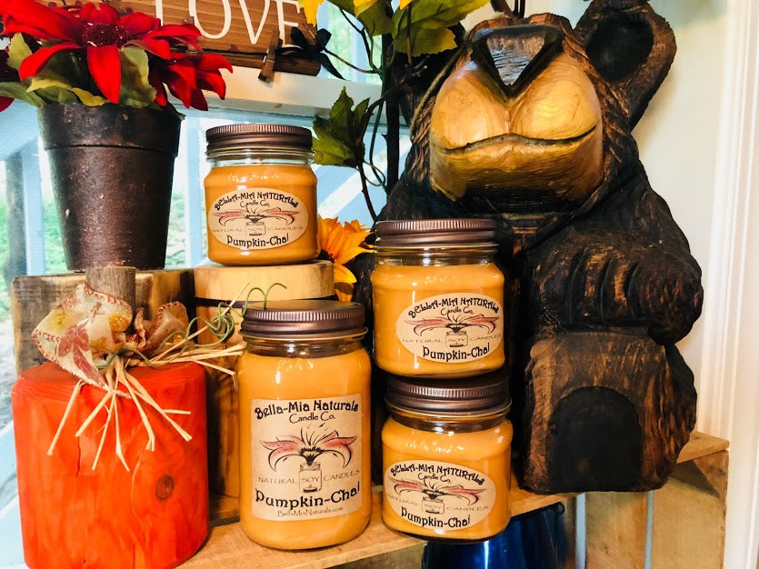Pumpkin-Chai Natural Hand Poured Soy Candles